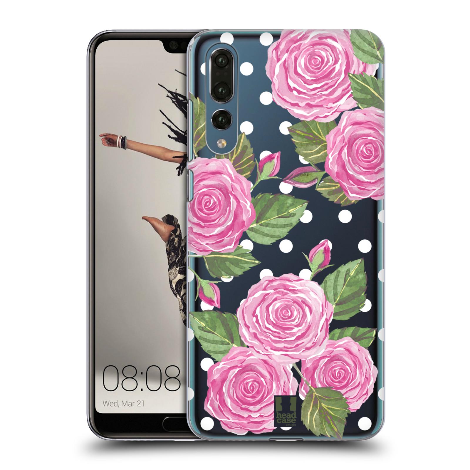 Plastové pouzdro na mobil Huawei P20 Pro - Head Case - Hezoučké růžičky - průhledné