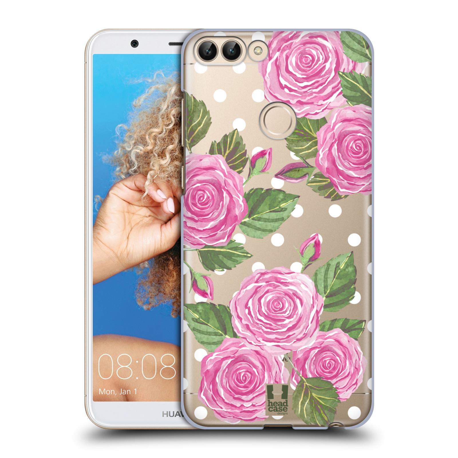 Plastové pouzdro na mobil Huawei P Smart - Head Case - Hezoučké růžičky - průhledné