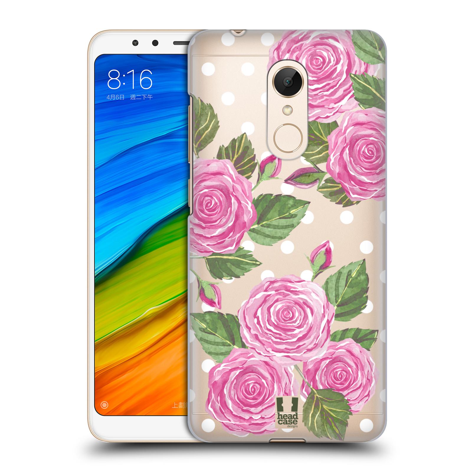 Plastové pouzdro na mobil Xiaomi Redmi 5 - Head Case - Hezoučké růžičky - průhledné