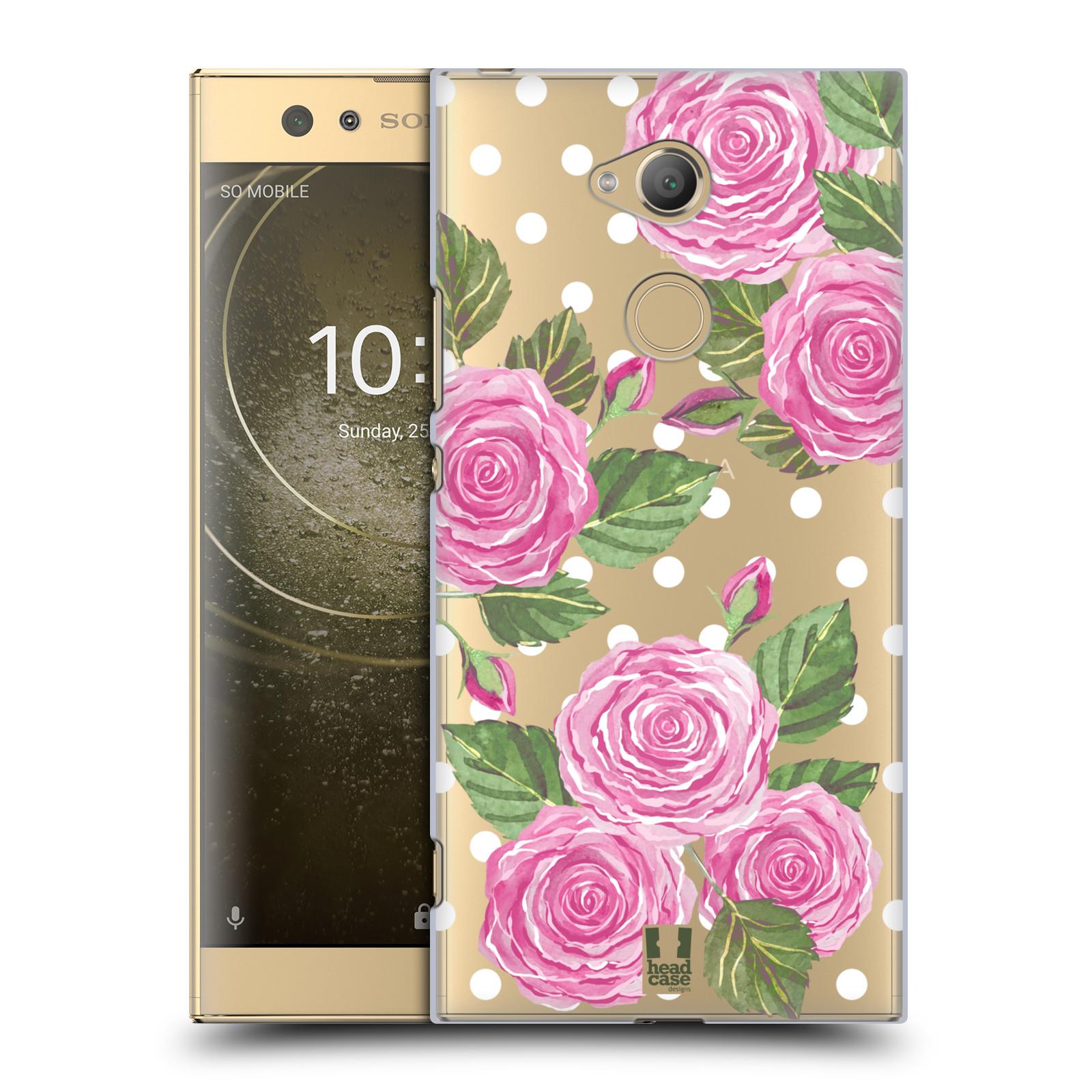 Plastové pouzdro na mobil Sony Xperia XA2 Ultra - Head Case - Hezoučké růžičky - průhledné