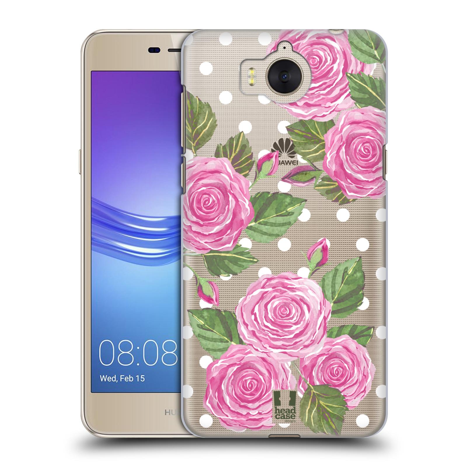 Plastové pouzdro na mobil Huawei Y6 2017 - Head Case - Hezoučké růžičky - průhledné