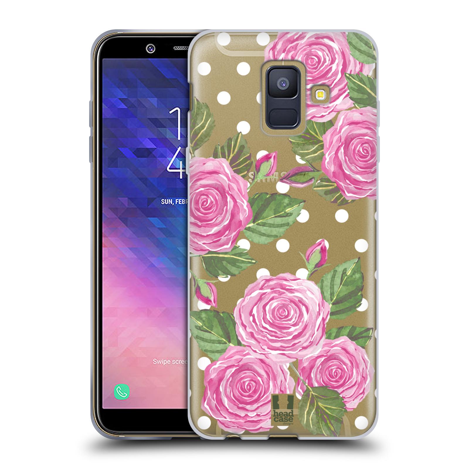 Silikonové pouzdro na mobil Samsung Galaxy A6 (2018) - Head Case - Hezoučké růžičky - průhledné