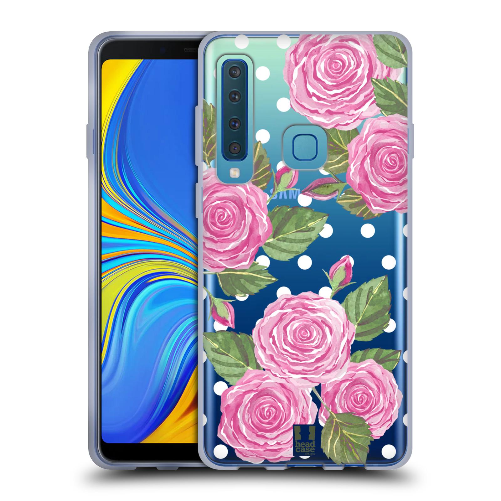 Silikonové pouzdro na mobil Samsung Galaxy A9 (2018) - Head Case - Hezoučké růžičky - průhledné