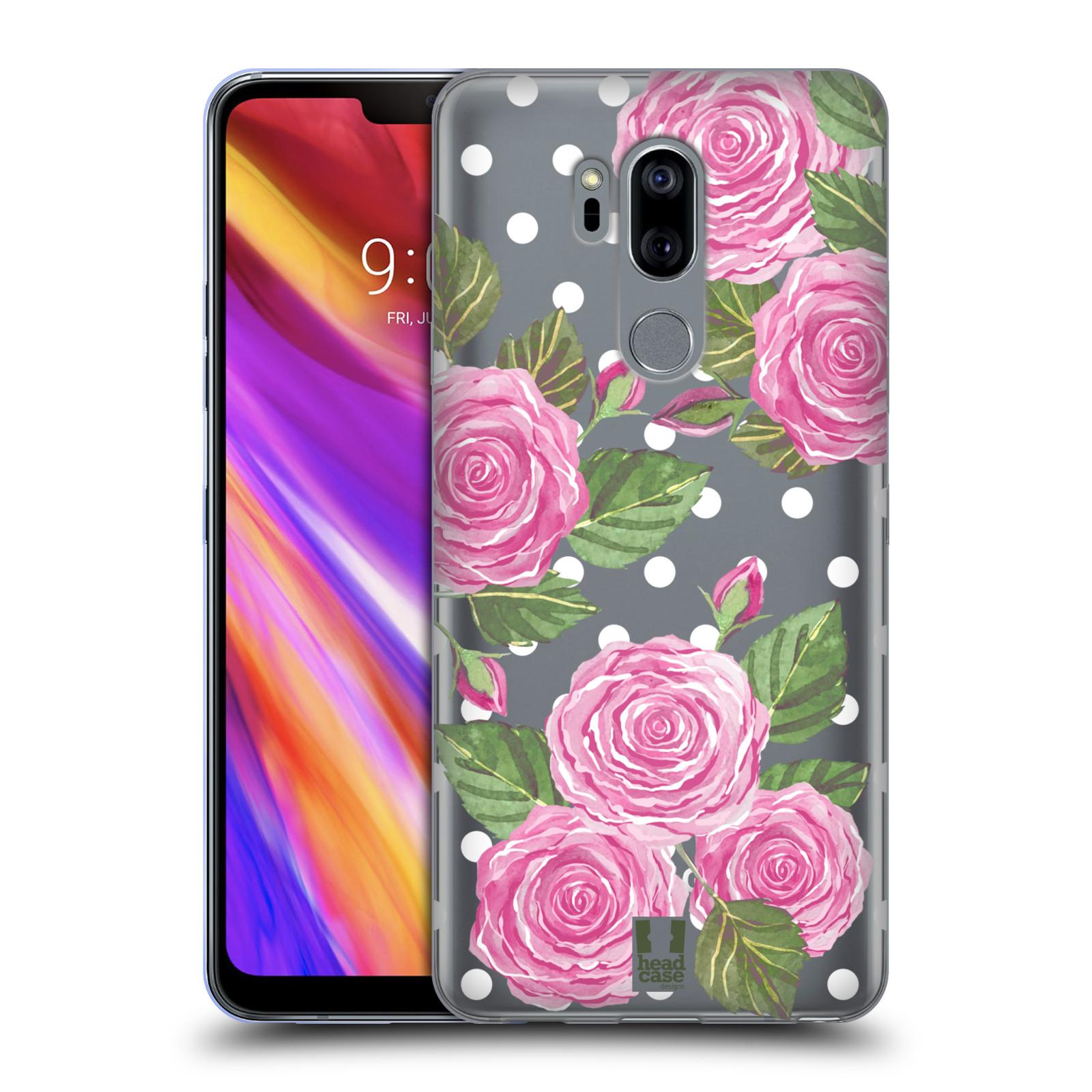Silikonové pouzdro na mobil LG G7 ThinQ - Head Case - Hezoučké růžičky - průhledné