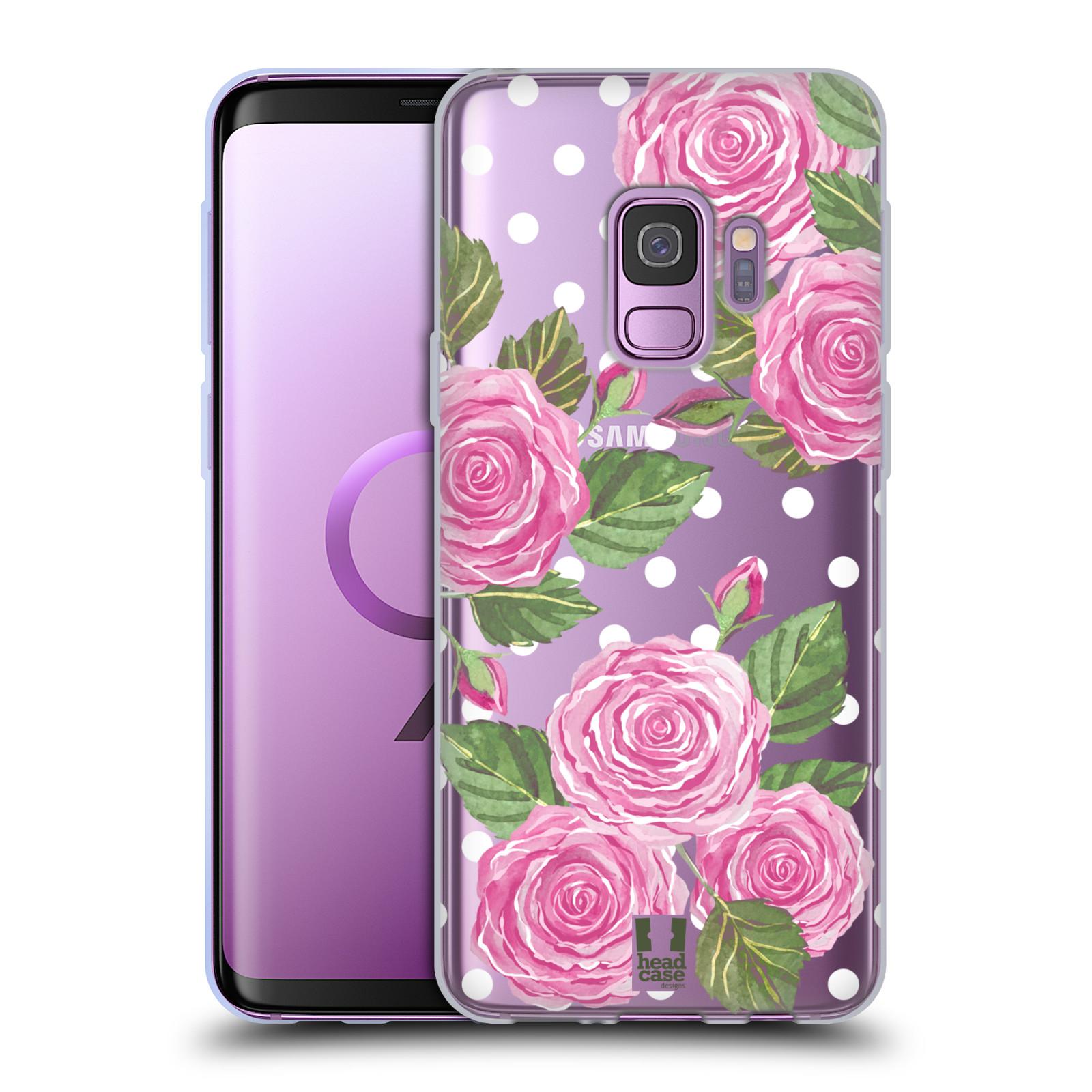 Silikonové pouzdro na mobil Samsung Galaxy S9 - Head Case - Hezoučké růžičky - průhledné