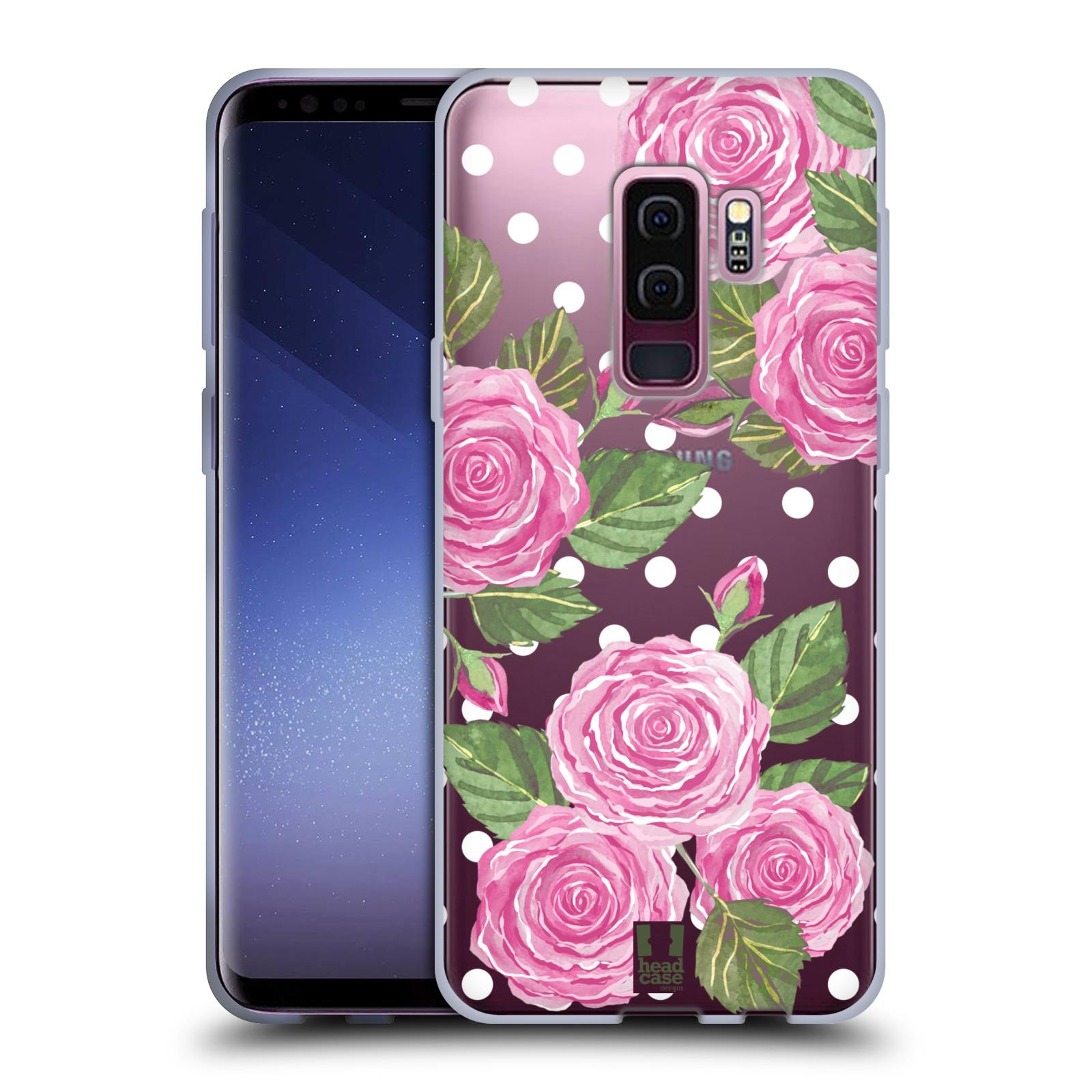 Silikonové pouzdro na mobil Samsung Galaxy S9 Plus - Head Case - Hezoučké růžičky - průhledné