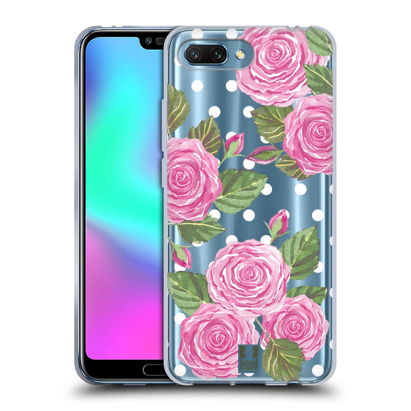 Silikonové pouzdro na mobil Honor 10 - Head Case - Hezoučké růžičky - průhledné