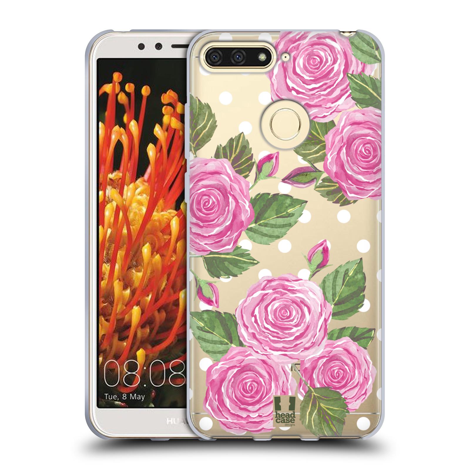 Silikonové pouzdro na mobil Huawei Y6 Prime (2018) - Head Case - Hezoučké růžičky - průhledné