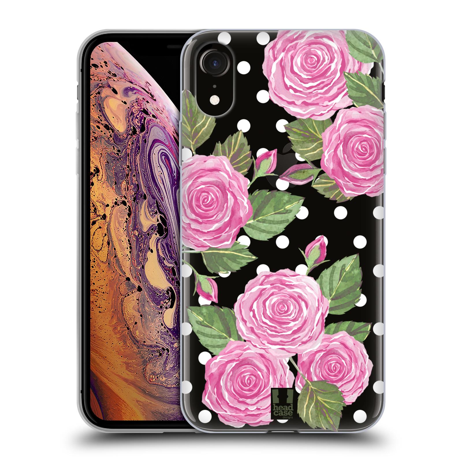 Silikonové pouzdro na mobil Apple iPhone XR - Head Case - Hezoučké růžičky - průhledné