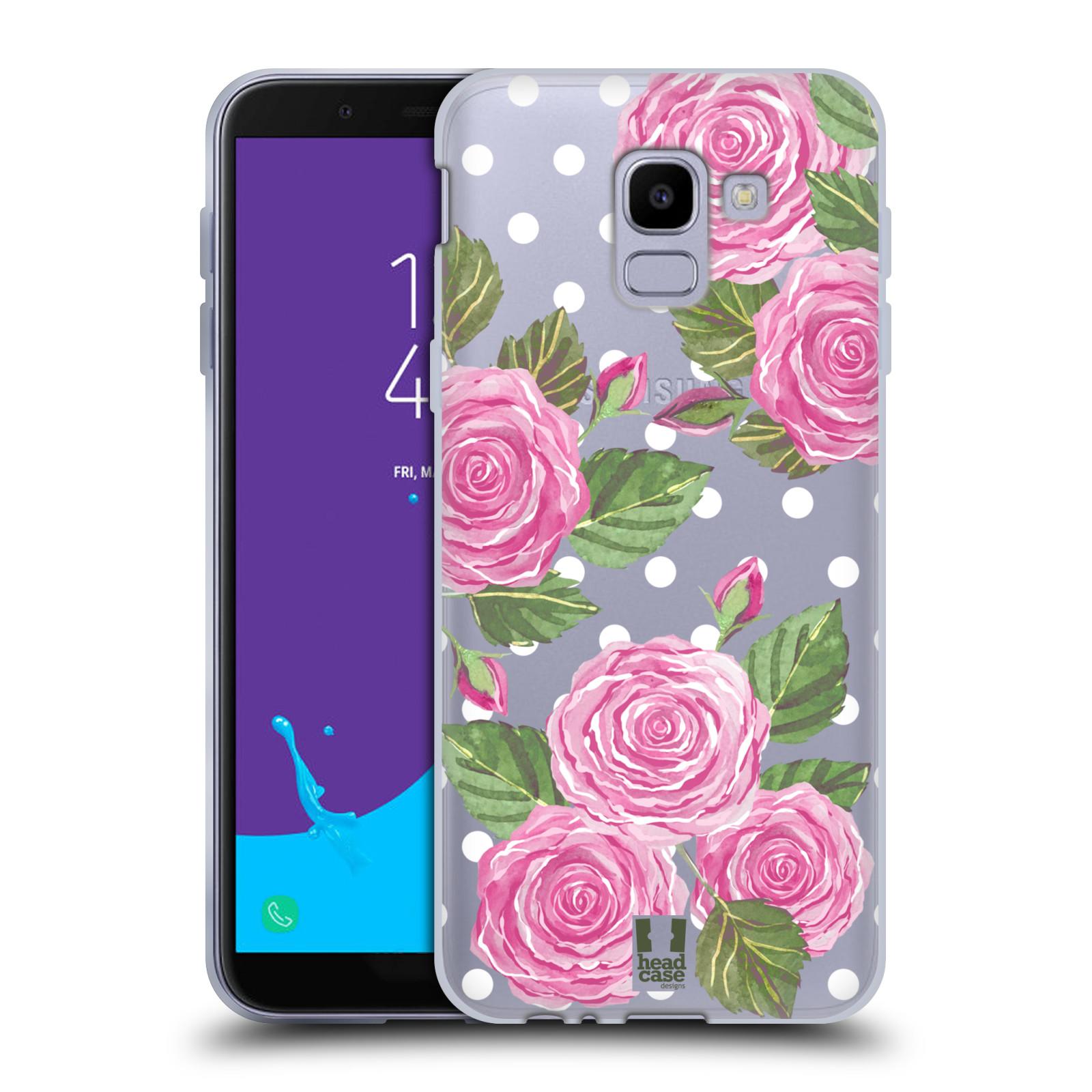 Silikonové pouzdro na mobil Samsung Galaxy J6 (2018) - Head Case - Hezoučké růžičky - průhledné