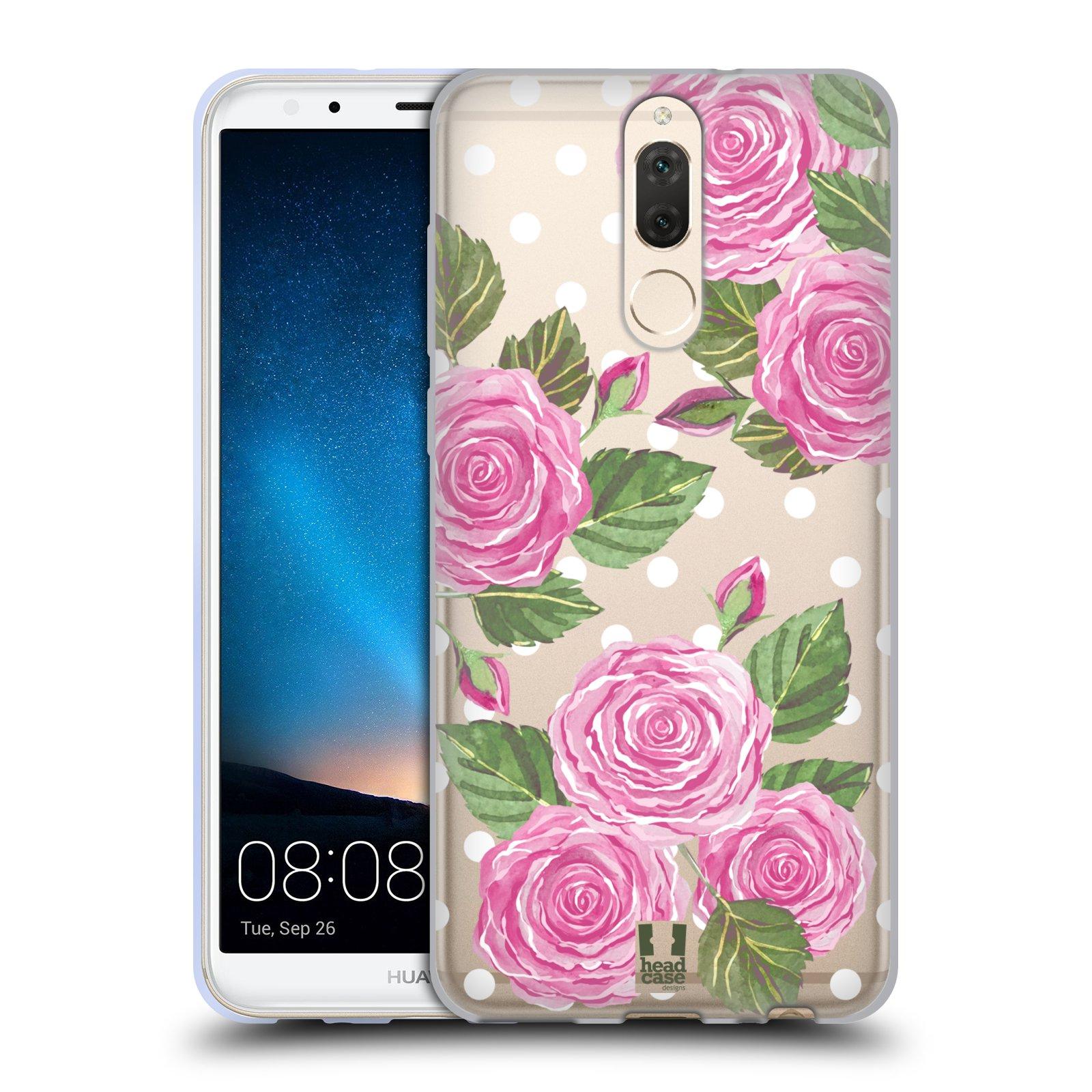 Silikonové pouzdro na mobil Huawei Mate 10 Lite - Head Case - Hezoučké růžičky - průhledné