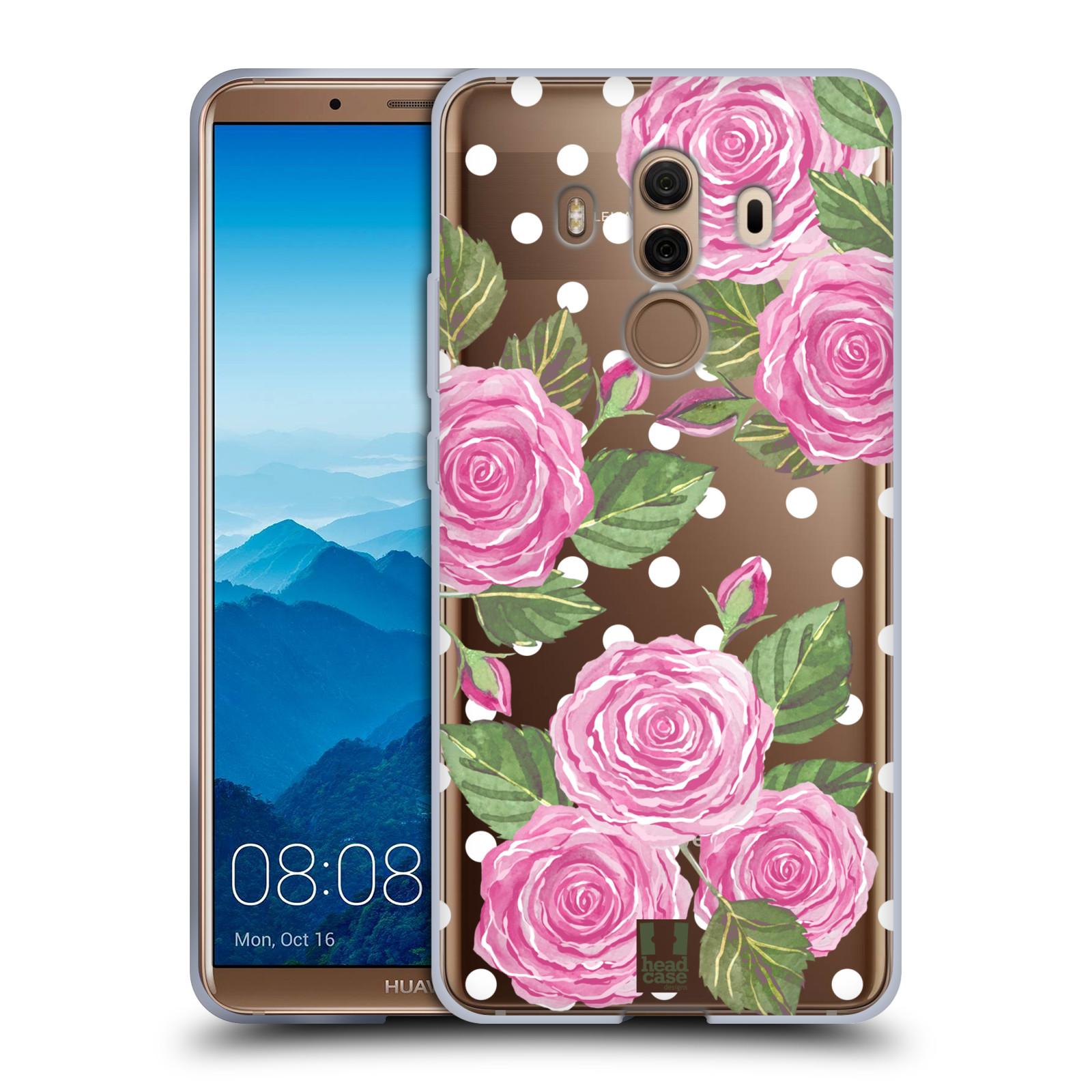 Silikonové pouzdro na mobil Huawei Mate 10 Pro - Head Case - Hezoučké růžičky - průhledné