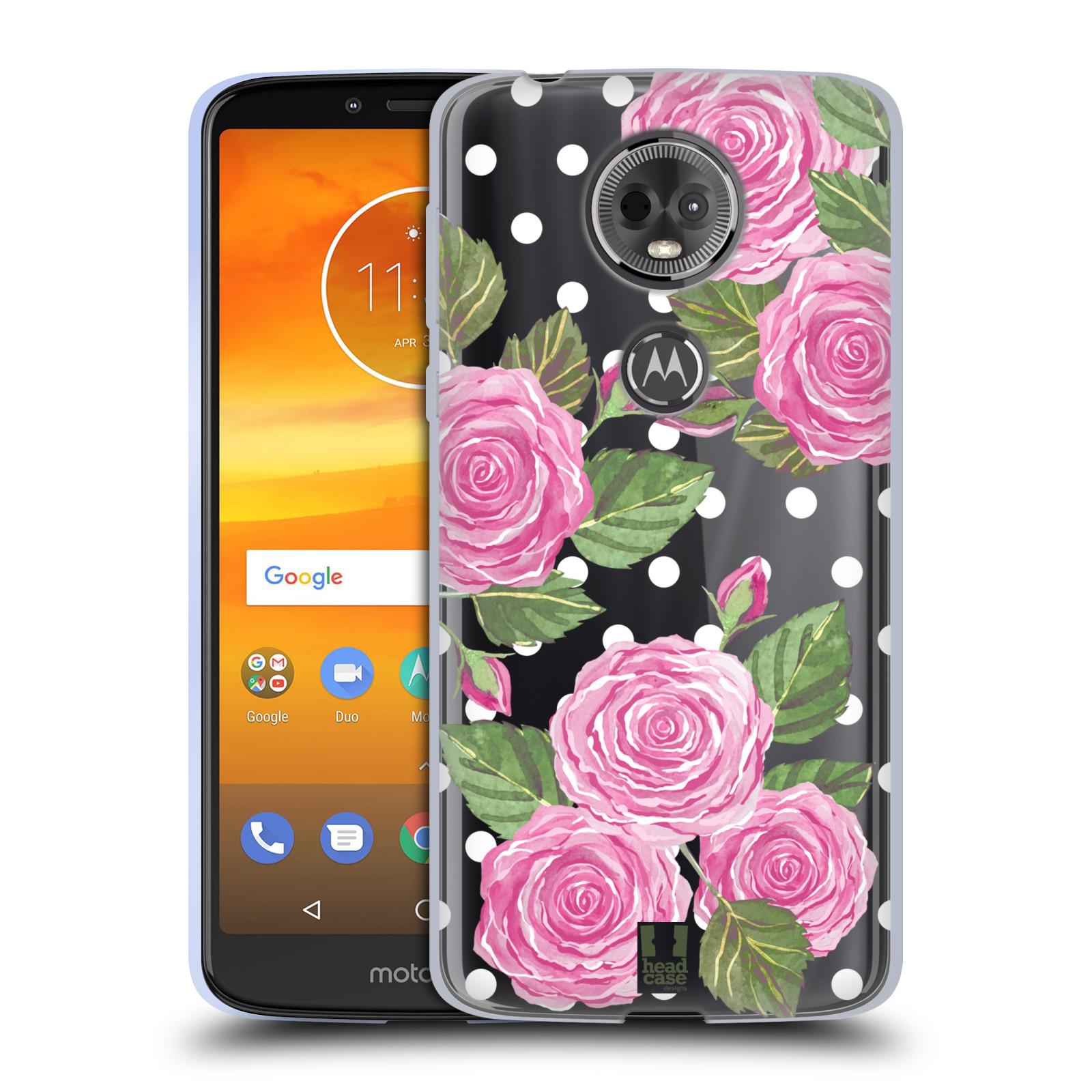 Silikonové pouzdro na mobil Motorola Moto E5 Plus - Head Case - Hezoučké růžičky - průhledné