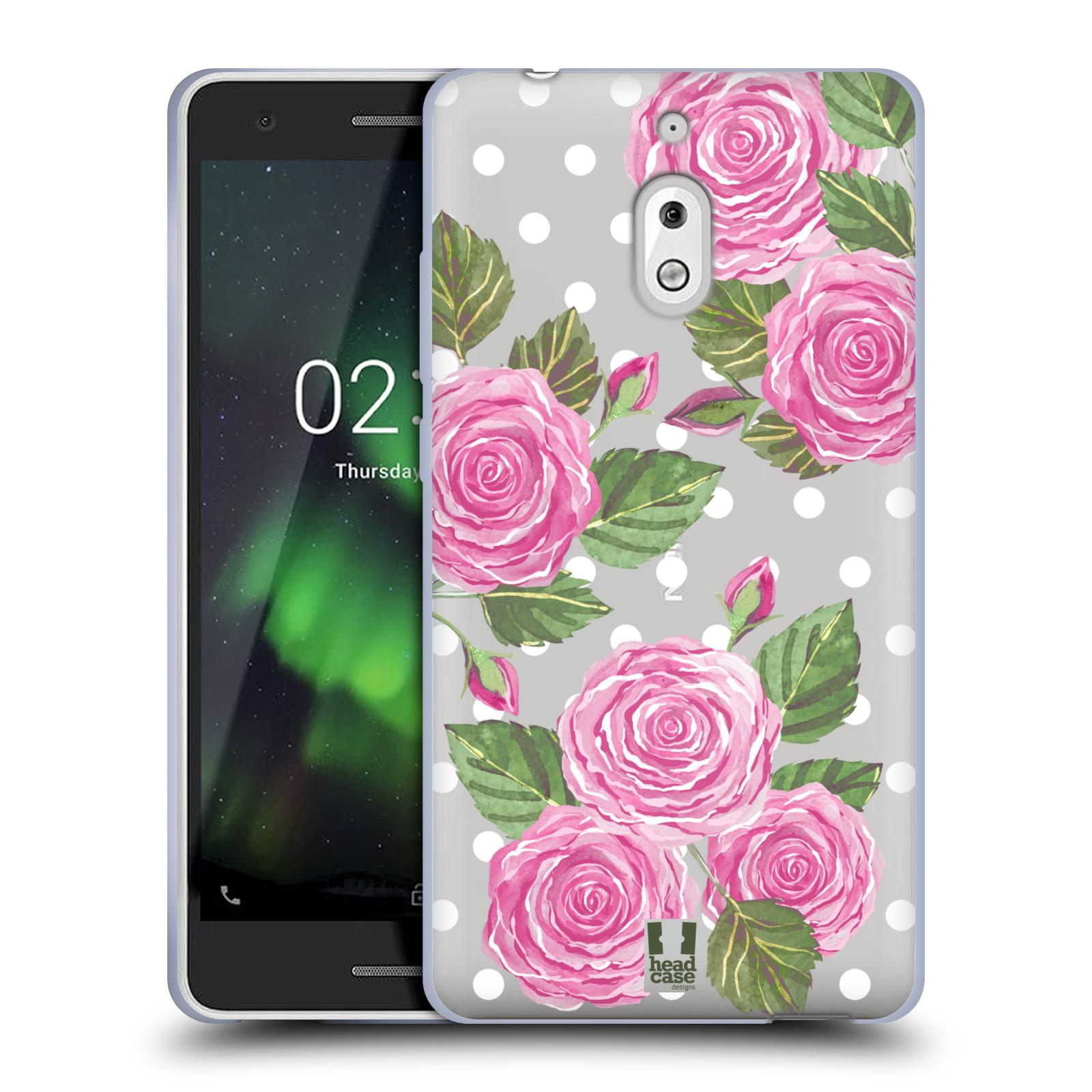 Silikonové pouzdro na mobil Nokia 2.1 - Head Case - Hezoučké růžičky - průhledné