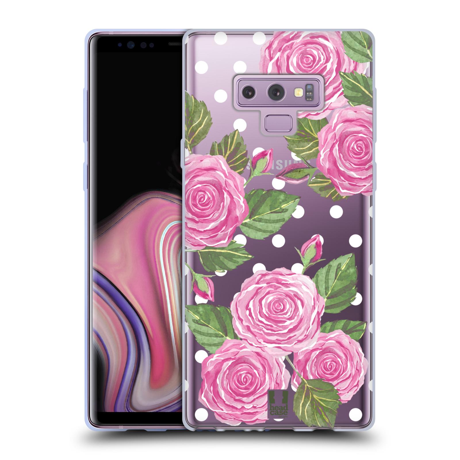 Silikonové pouzdro na mobil Samsung Galaxy Note 9 - Head Case - Hezoučké růžičky - průhledné