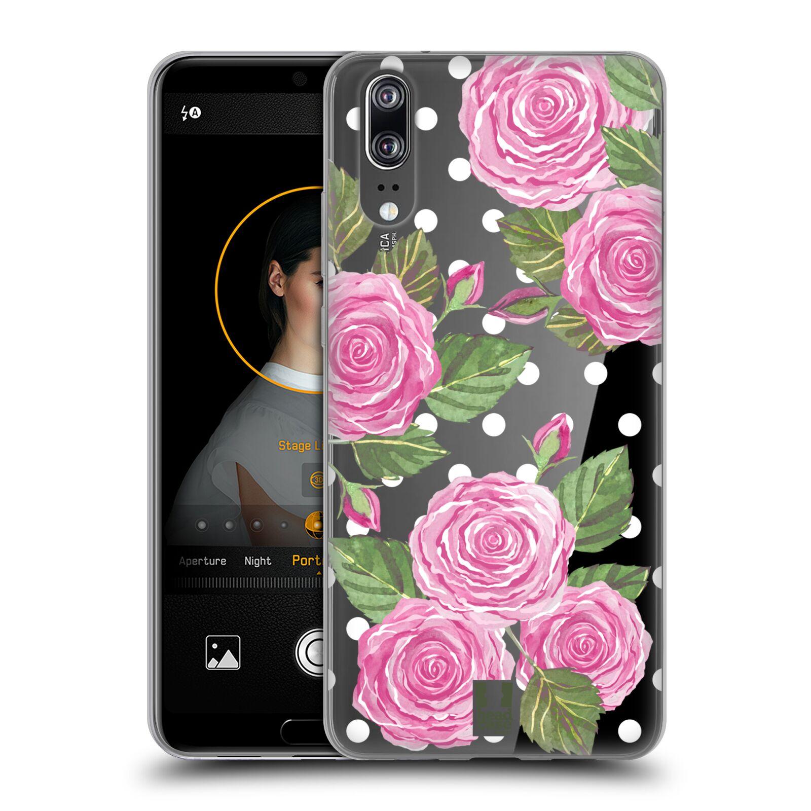 Silikonové pouzdro na mobil Huawei P20 - Head Case - Hezoučké růžičky - průhledné