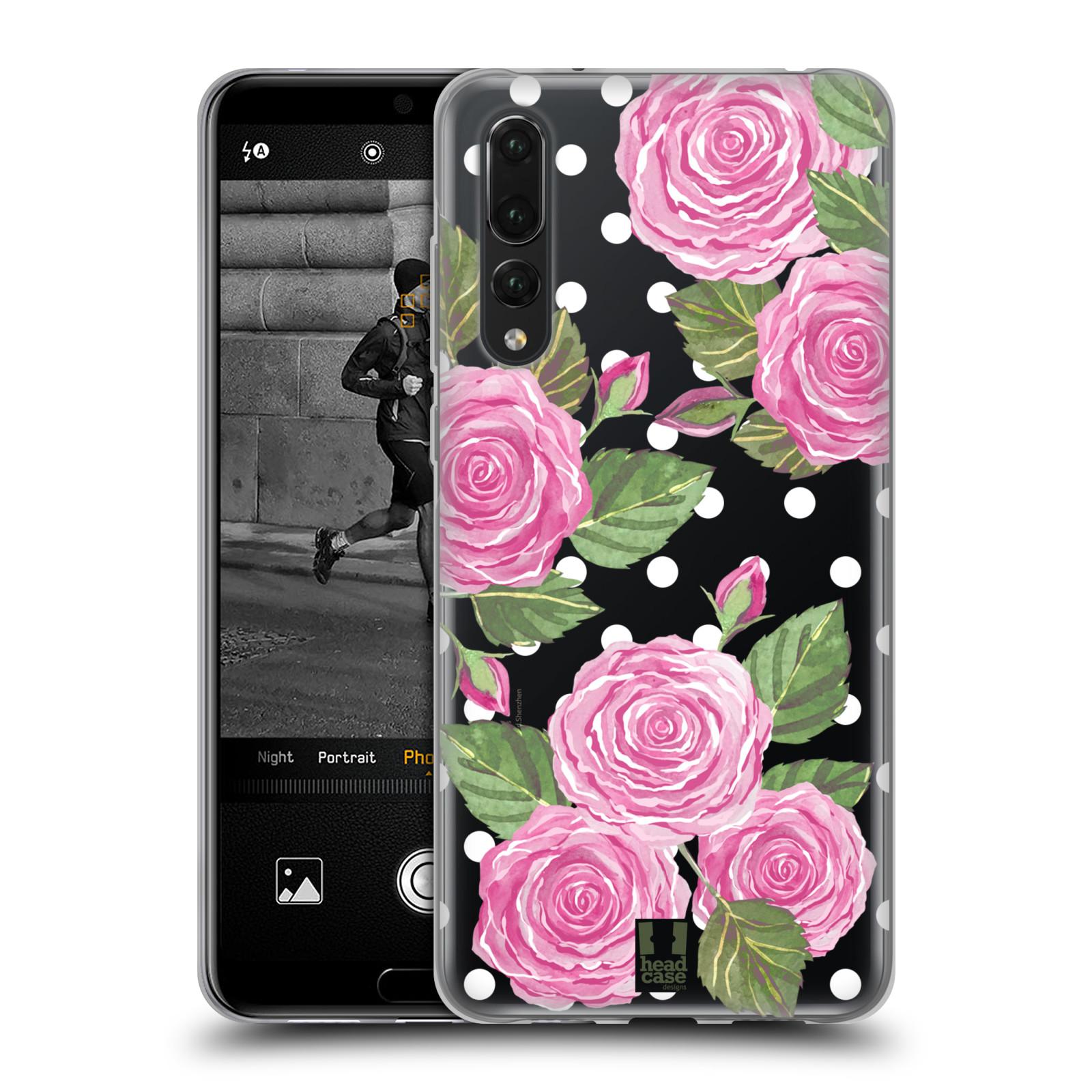 Silikonové pouzdro na mobil Huawei P20 Pro - Head Case - Hezoučké růžičky - průhledné