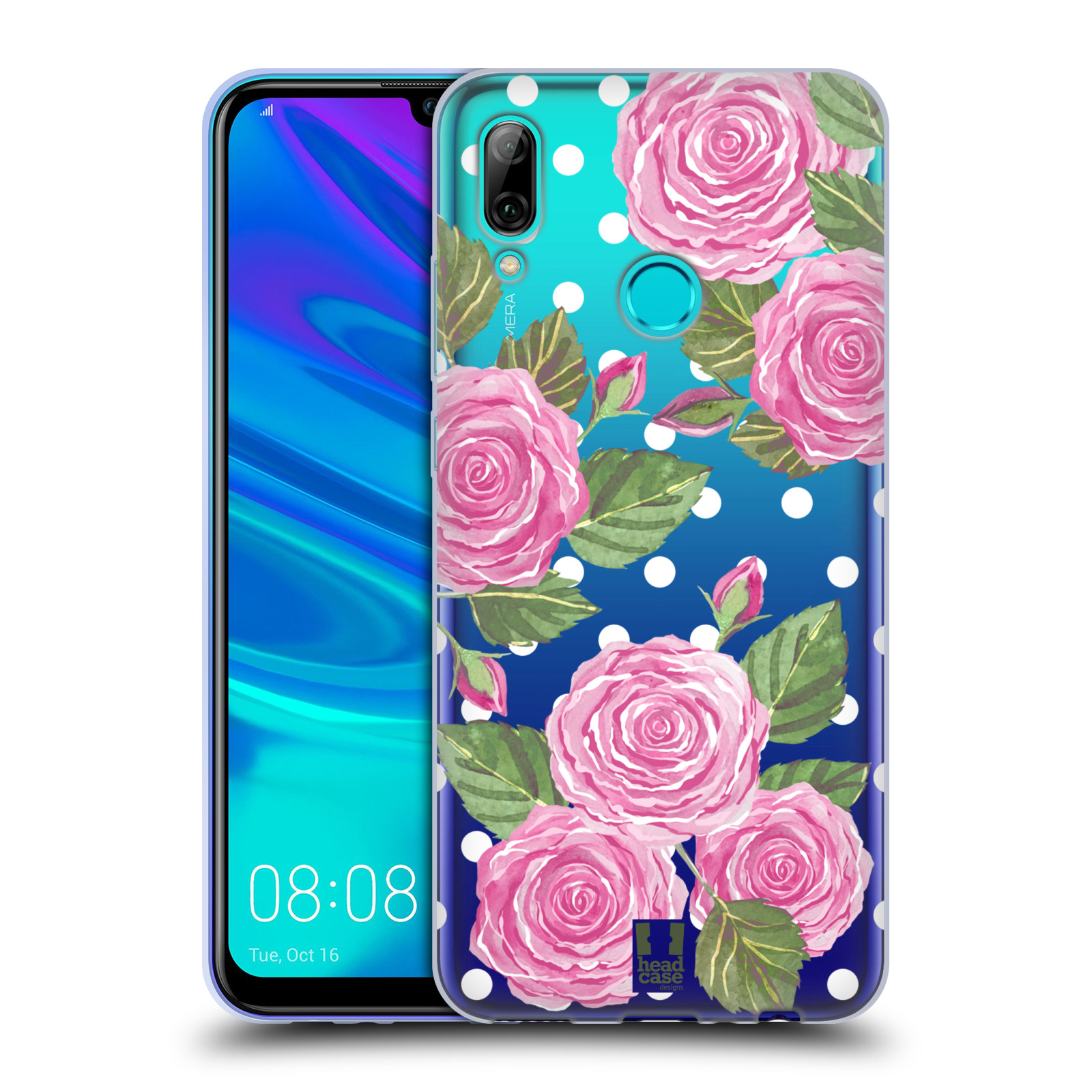 Silikonové pouzdro na mobil Huawei P Smart (2019) - Head Case - Hezoučké růžičky - průhledné