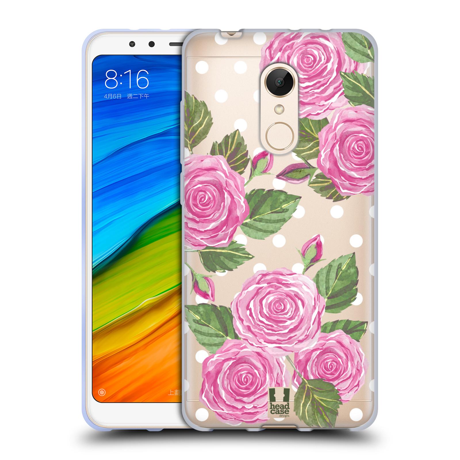 Silikonové pouzdro na mobil Xiaomi Redmi 5 - Head Case - Hezoučké růžičky - průhledné
