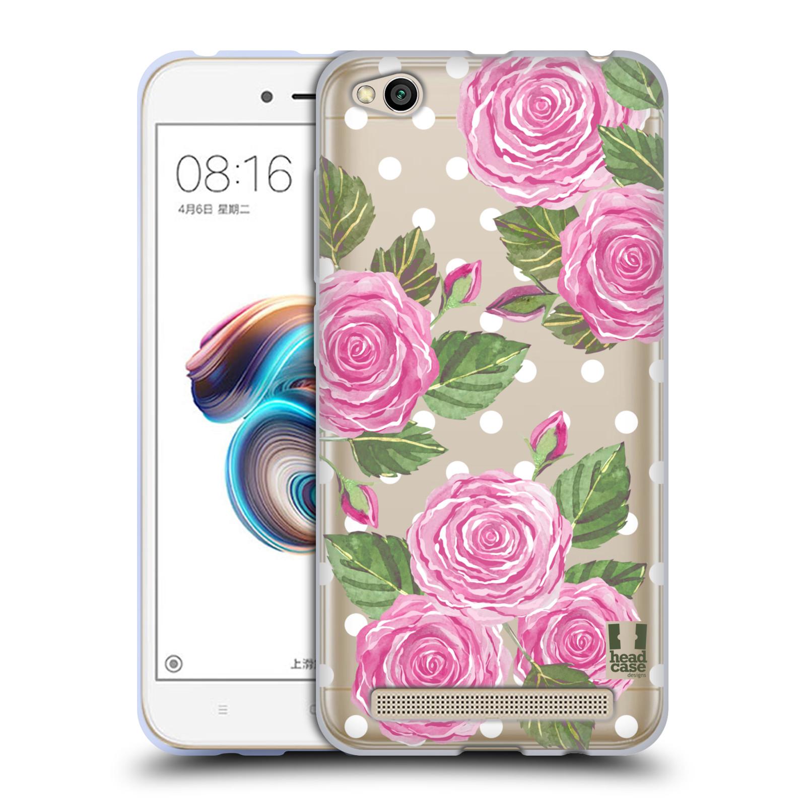 Silikonové pouzdro na mobil Xiaomi Redmi 5A - Head Case - Hezoučké růžičky - průhledné