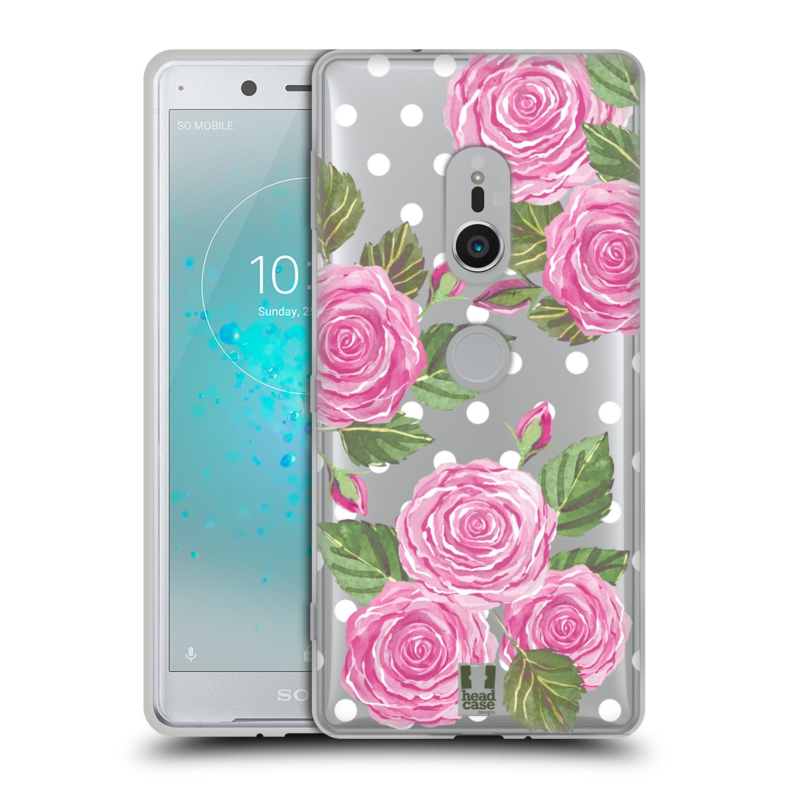 Silikonové pouzdro na mobil Sony Xperia XZ2 - Head Case - Hezoučké růžičky - průhledné