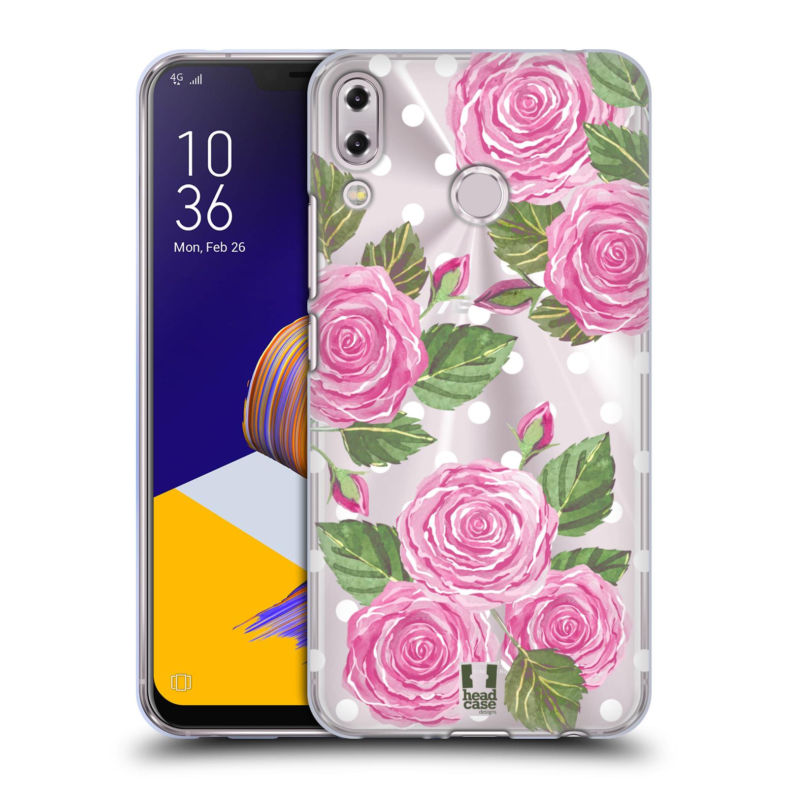Silikonové pouzdro na mobil Asus Zenfone 5z ZS620KL - Head Case - Hezoučké růžičky - průhledné