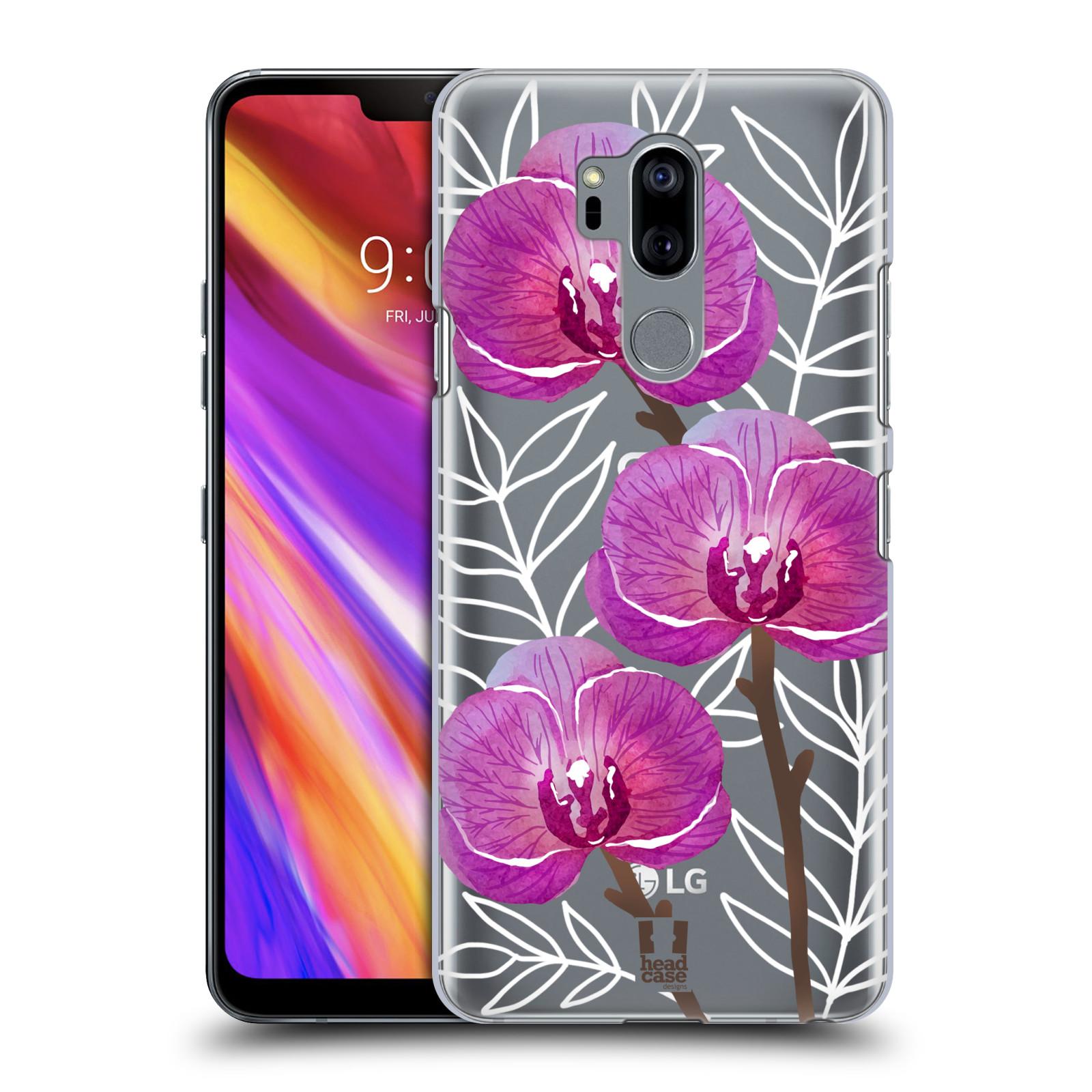 Plastové pouzdro na mobil LG G7 ThinQ - Head Case - Hezoučké kvítky - průhledné