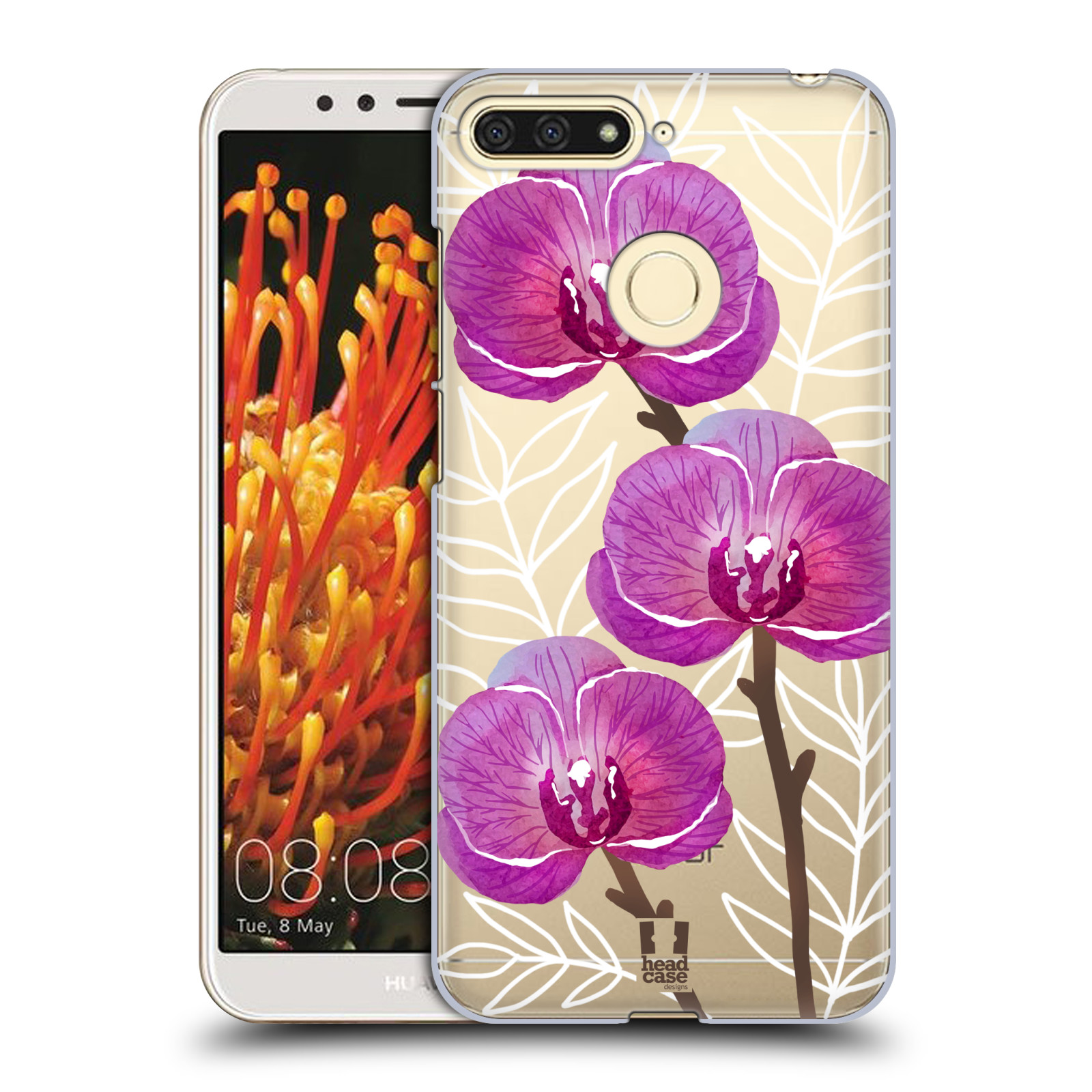 Plastové pouzdro na mobil Honor 7A - Head Case - Hezoučké kvítky - průhledné