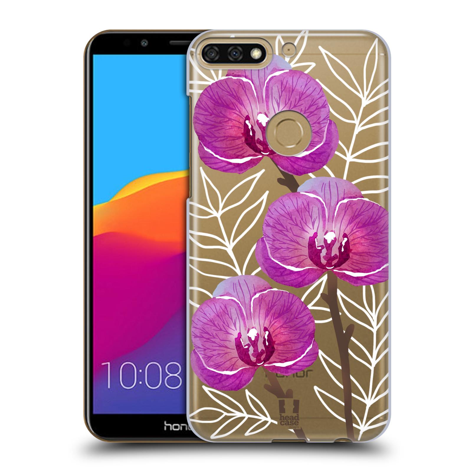 Plastové pouzdro na mobil Huawei Y7 Prime 2018 - Head Case - Hezoučké kvítky - průhledné