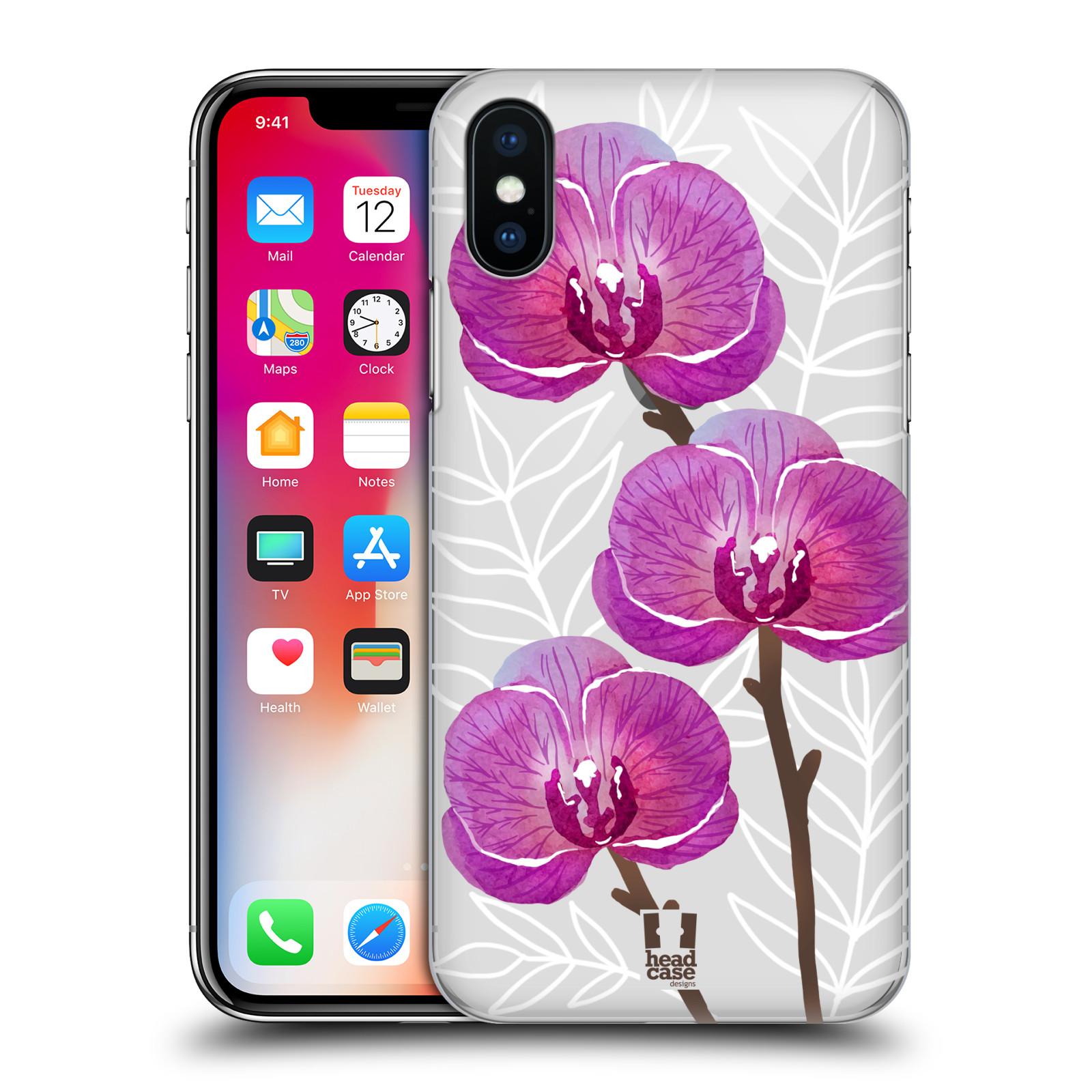 Plastové pouzdro na mobil Apple iPhone XS - Head Case - Hezoučké kvítky - průhledné