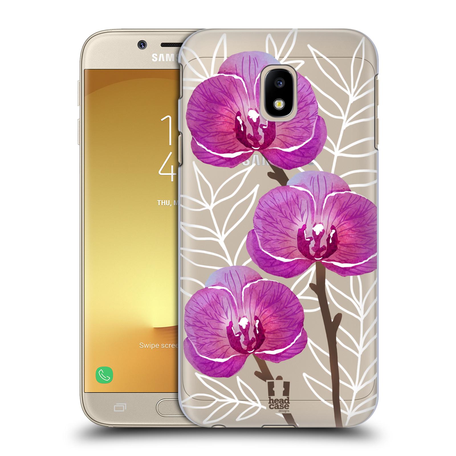 Plastové pouzdro na mobil Samsung Galaxy J3 (2017) - Head Case - Hezoučké kvítky - průhledné