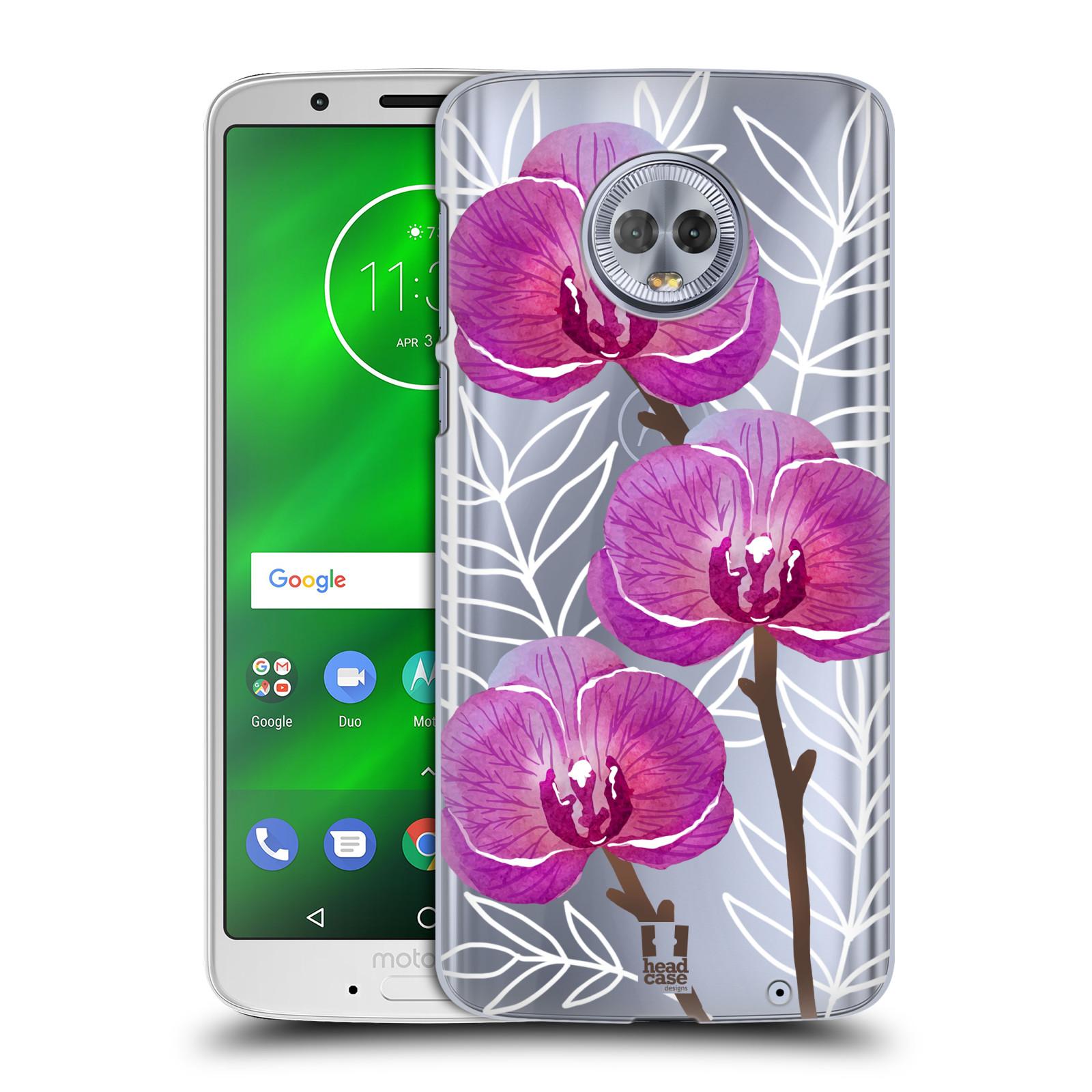 Plastové pouzdro na mobil Motorola Moto G6 Plus - Head Case - Hezoučké kvítky - průhledné
