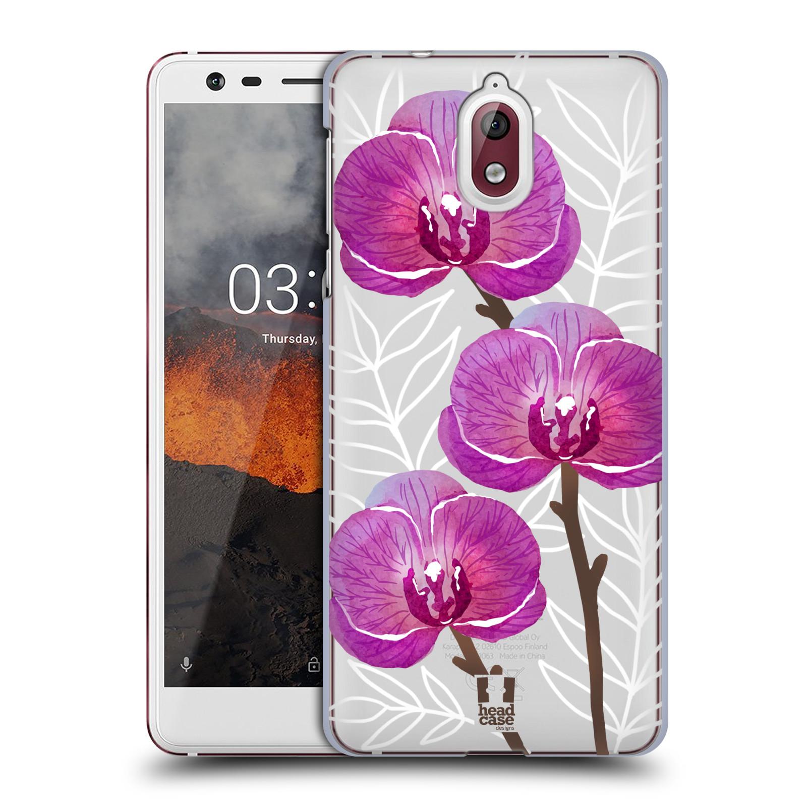 Plastové pouzdro na mobil Nokia 3.1 - Head Case - Hezoučké kvítky - průhledné