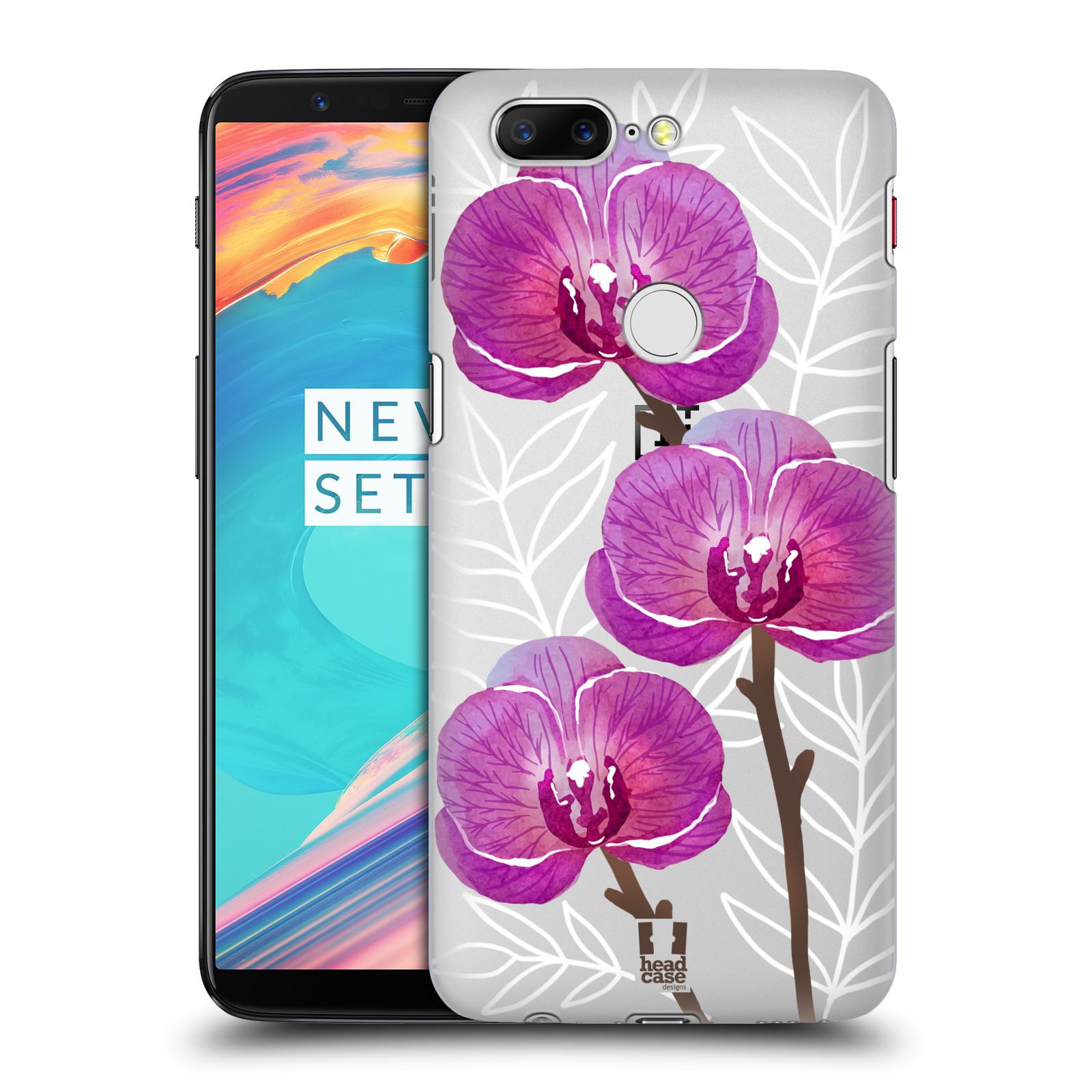 Plastové pouzdro na mobil OnePlus 5T - Head Case - Hezoučké kvítky - průhledné