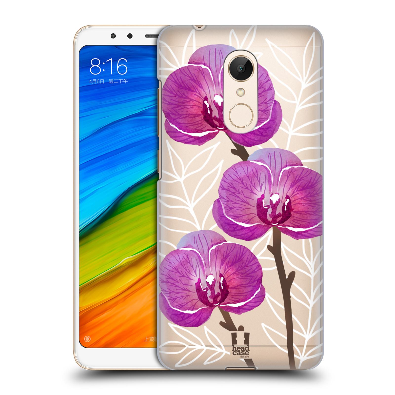 Plastové pouzdro na mobil Xiaomi Redmi 5 - Head Case - Hezoučké kvítky - průhledné