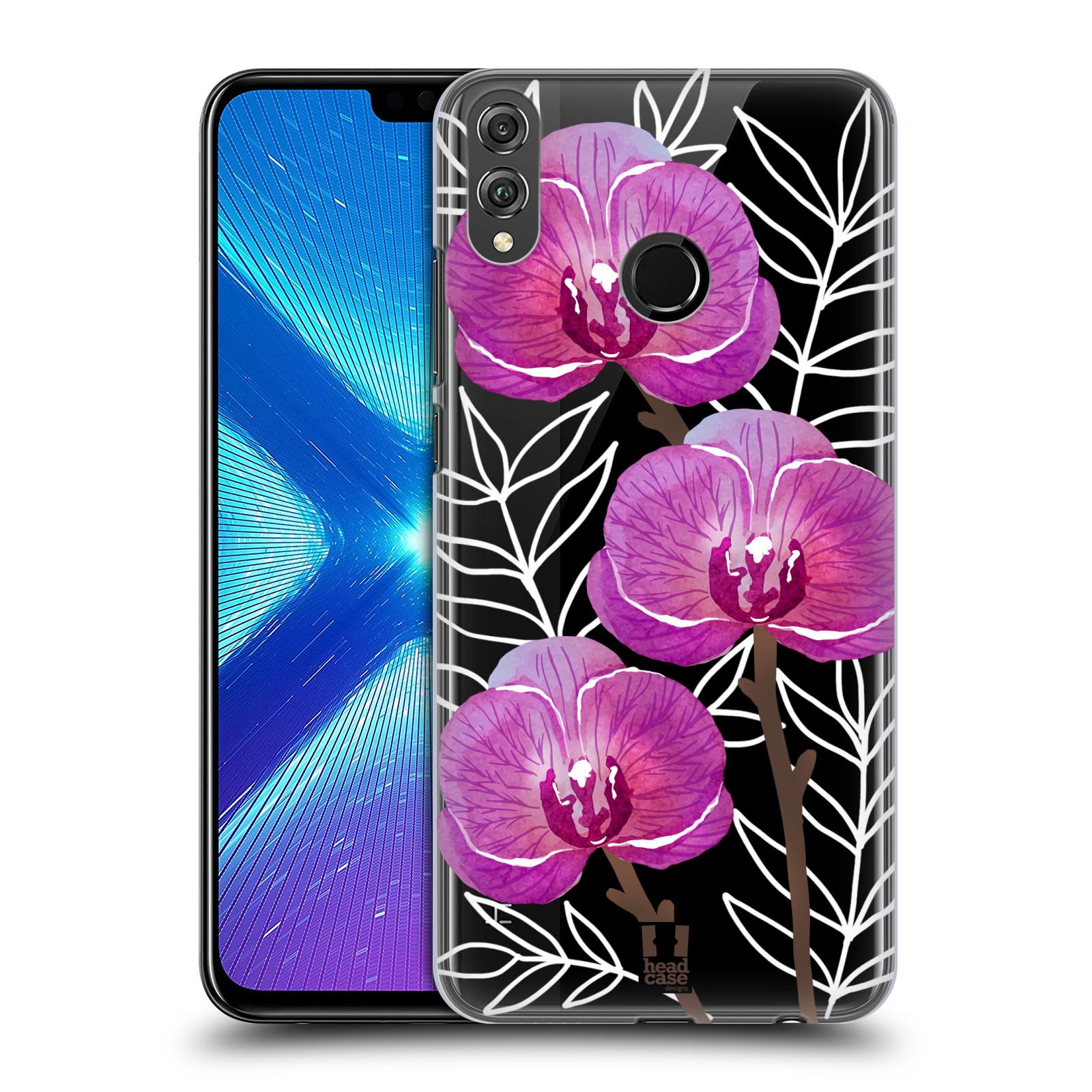 Plastové pouzdro na mobil Honor 8X - Head Case - Hezoučké kvítky - průhledné