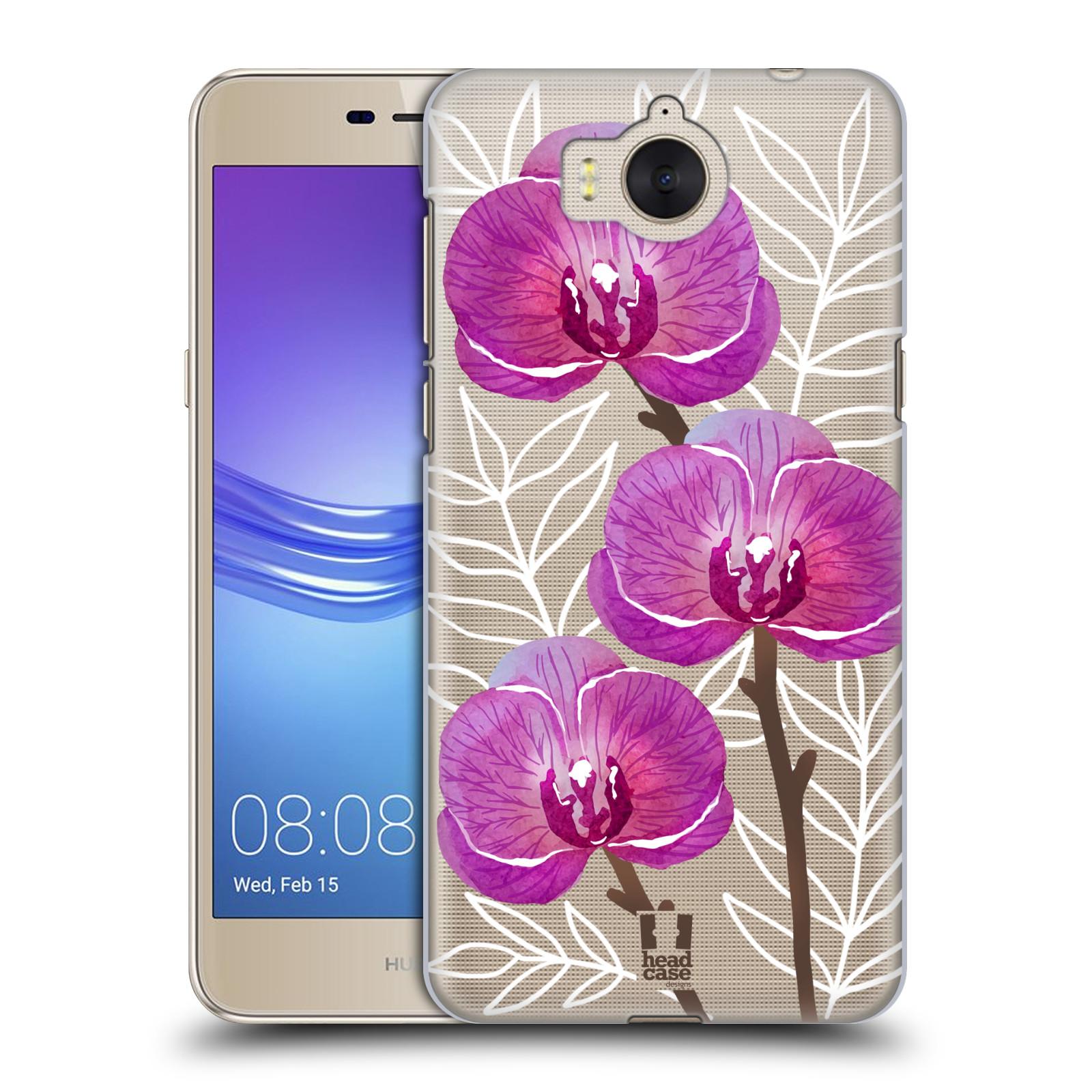 Plastové pouzdro na mobil Huawei Y6 2017 - Head Case - Hezoučké kvítky - průhledné