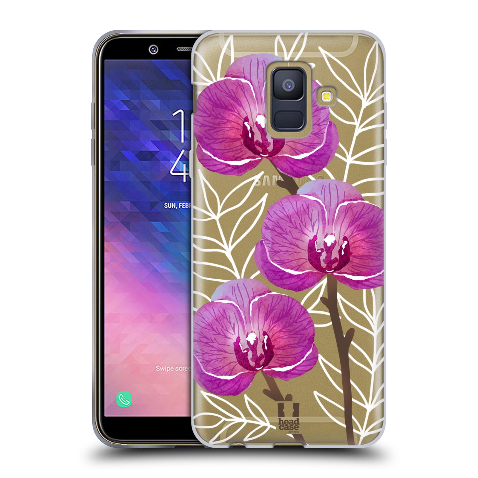 Silikonové pouzdro na mobil Samsung Galaxy A6 (2018) - Head Case - Hezoučké kvítky - průhledné