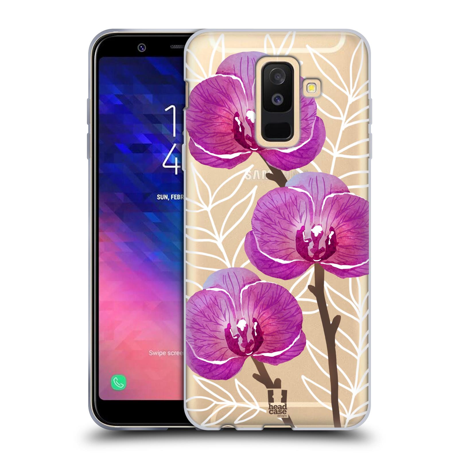 Silikonové pouzdro na mobil Samsung Galaxy A6 Plus (2018) - Head Case - Hezoučké kvítky - průhledné