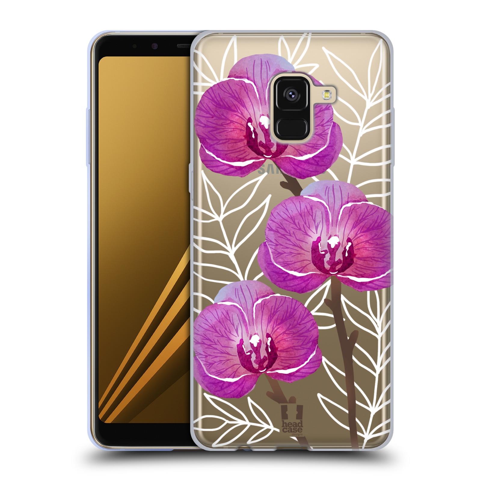 Silikonové pouzdro na mobil Samsung Galaxy A8 (2018) - Head Case - Hezoučké kvítky - průhledné