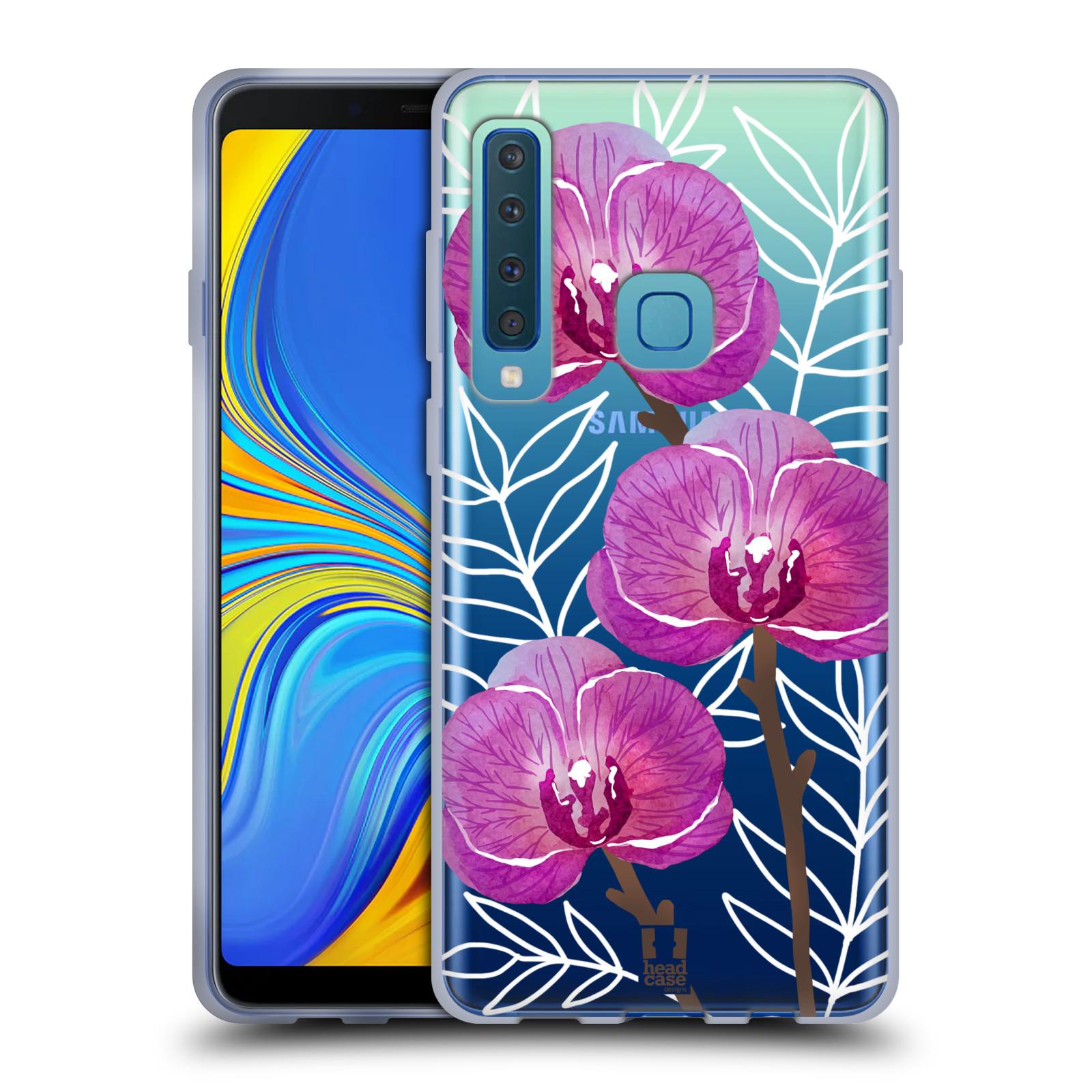 Silikonové pouzdro na mobil Samsung Galaxy A9 (2018) - Head Case - Hezoučké kvítky - průhledné