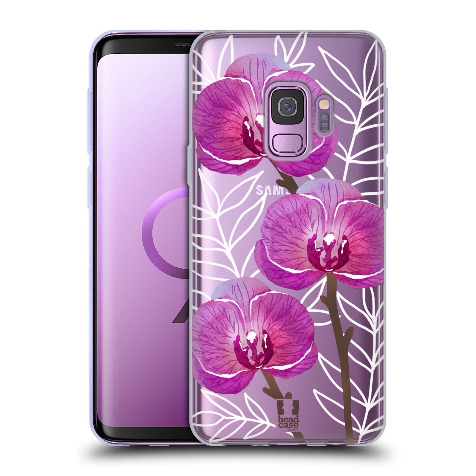 Silikonové pouzdro na mobil Samsung Galaxy S9 - Head Case - Hezoučké kvítky - průhledné