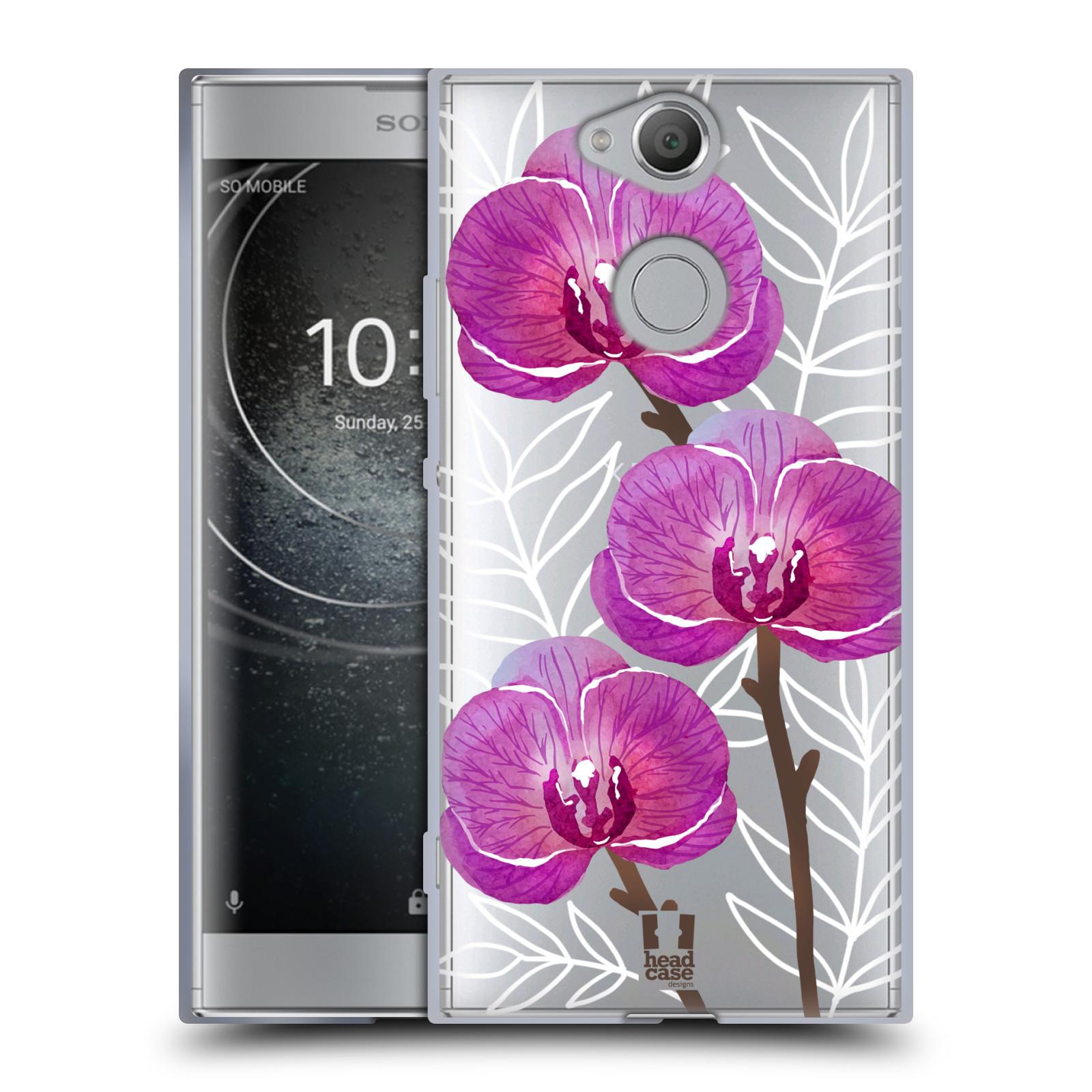 Silikonové pouzdro na mobil Sony Xperia XA2 - Head Case - Hezoučké kvítky - průhledné