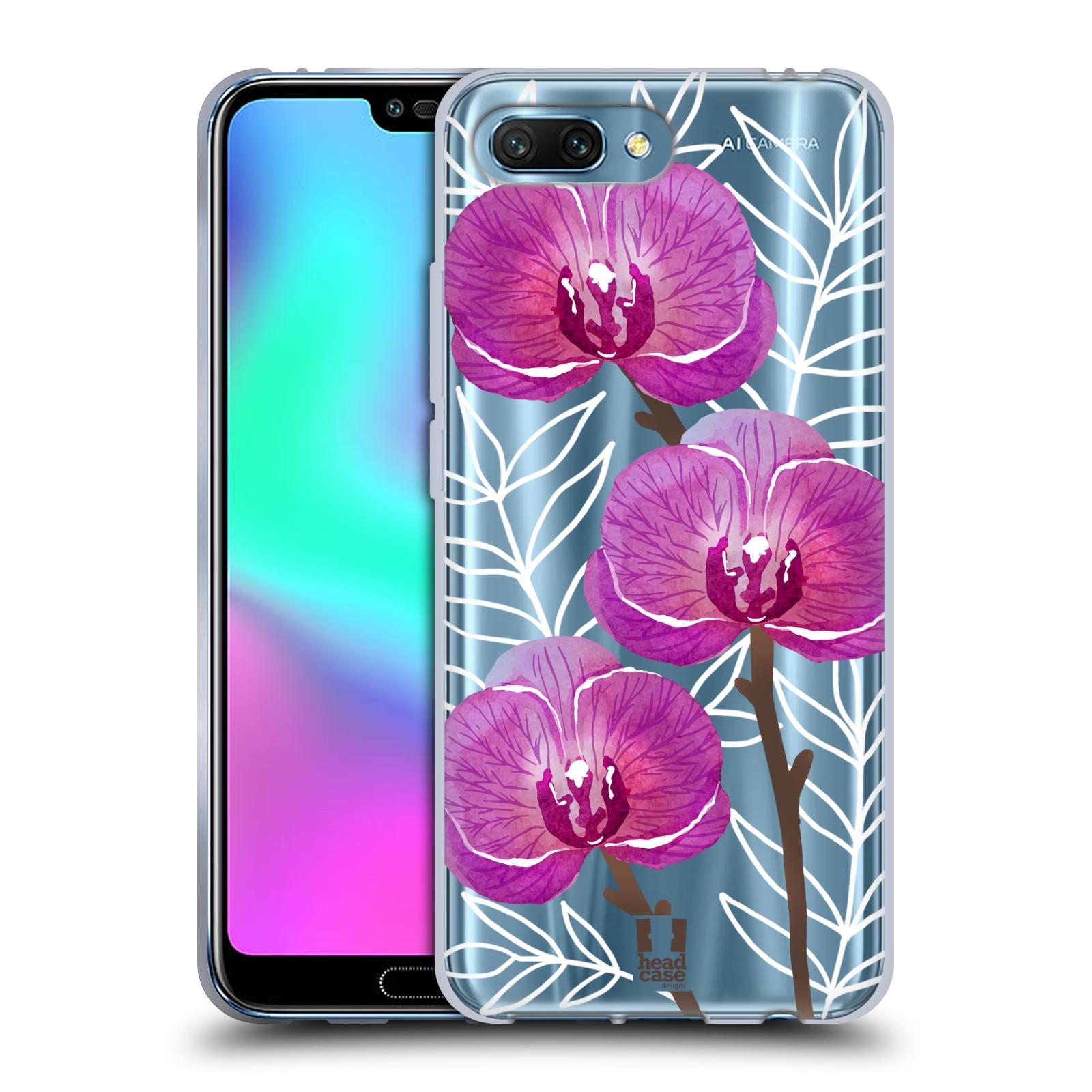 Silikonové pouzdro na mobil Honor 10 - Head Case - Hezoučké kvítky - průhledné