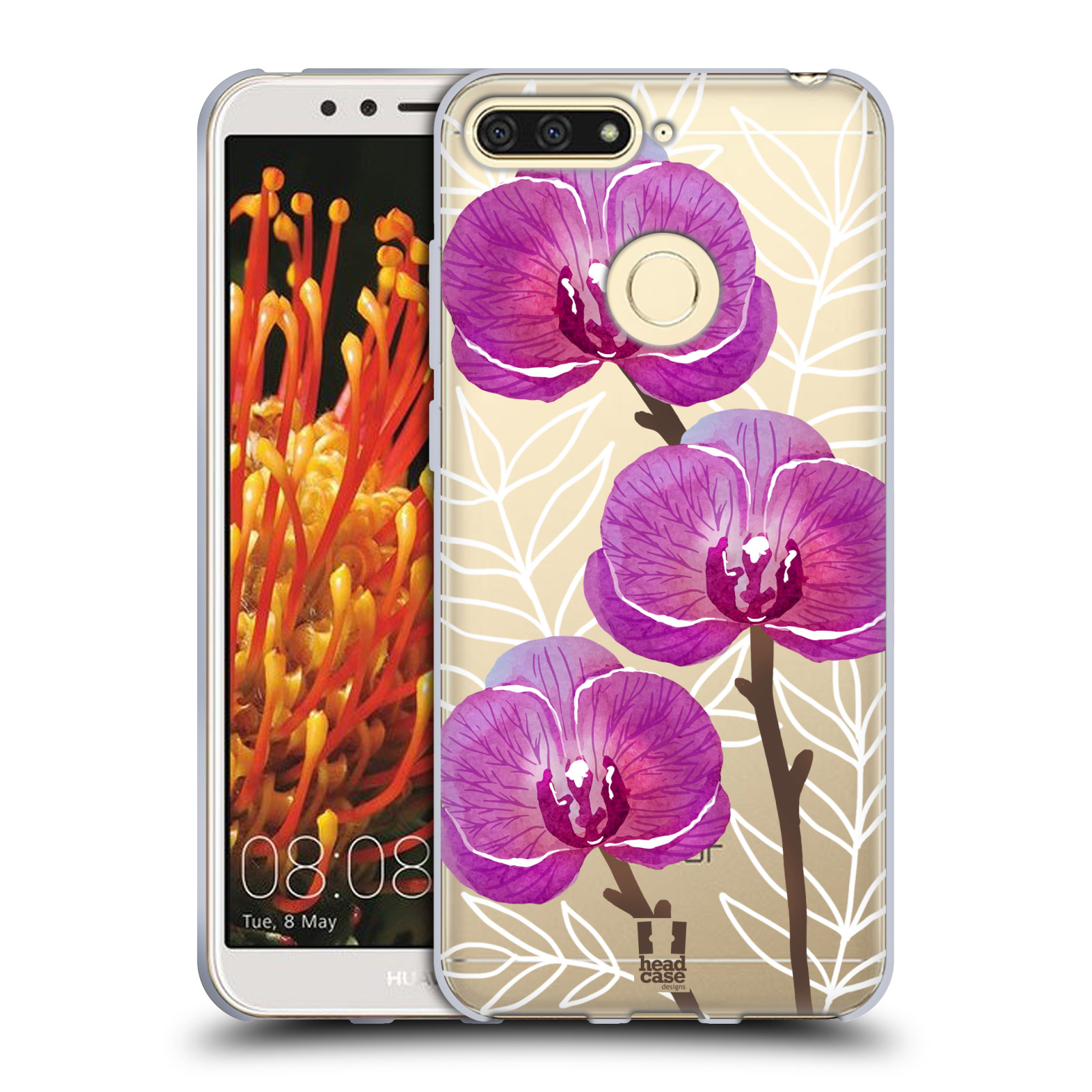 Silikonové pouzdro na mobil Honor 7A - Head Case - Hezoučké kvítky - průhledné