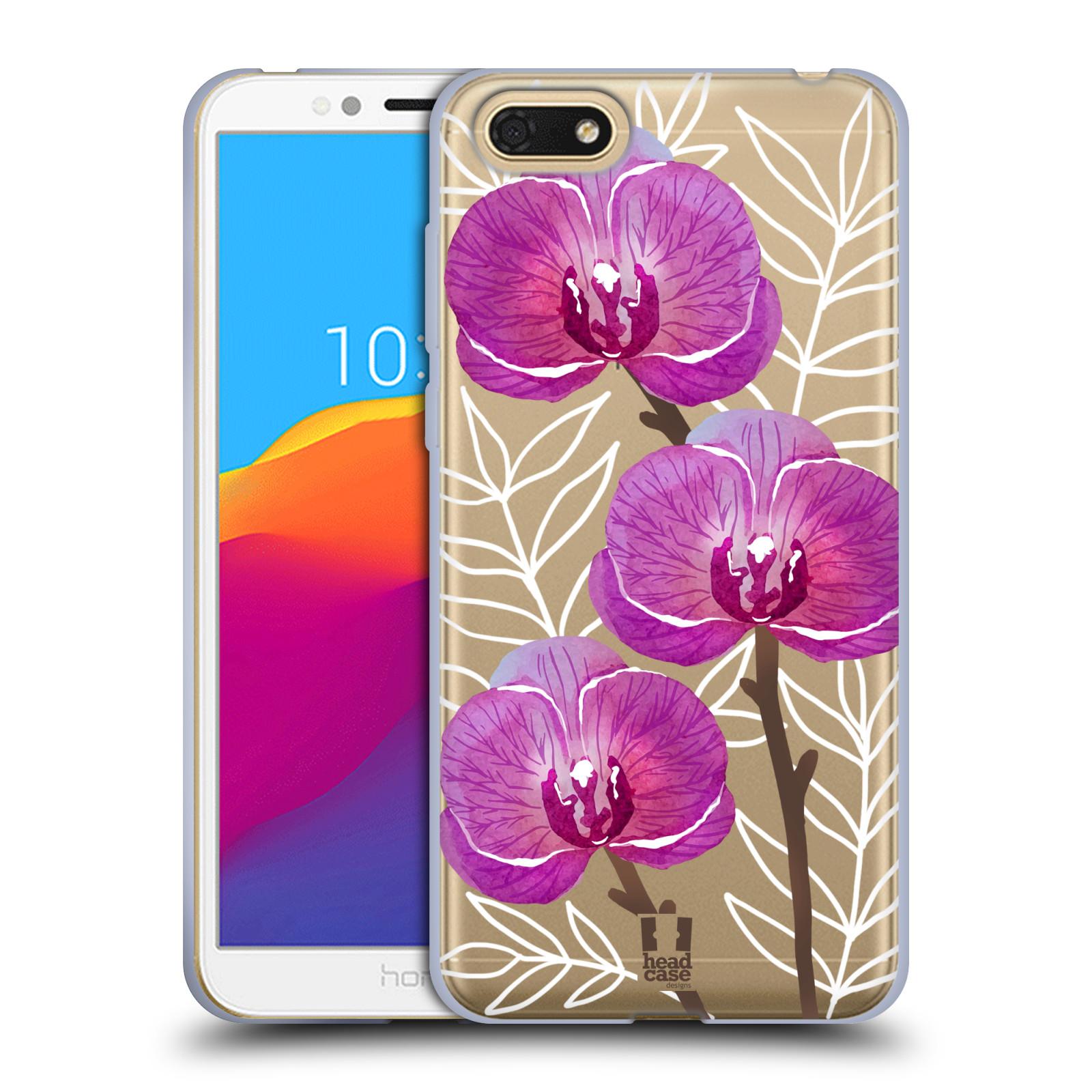 Silikonové pouzdro na mobil Huawei Y5 2018 - Head Case - Hezoučké kvítky - průhledné