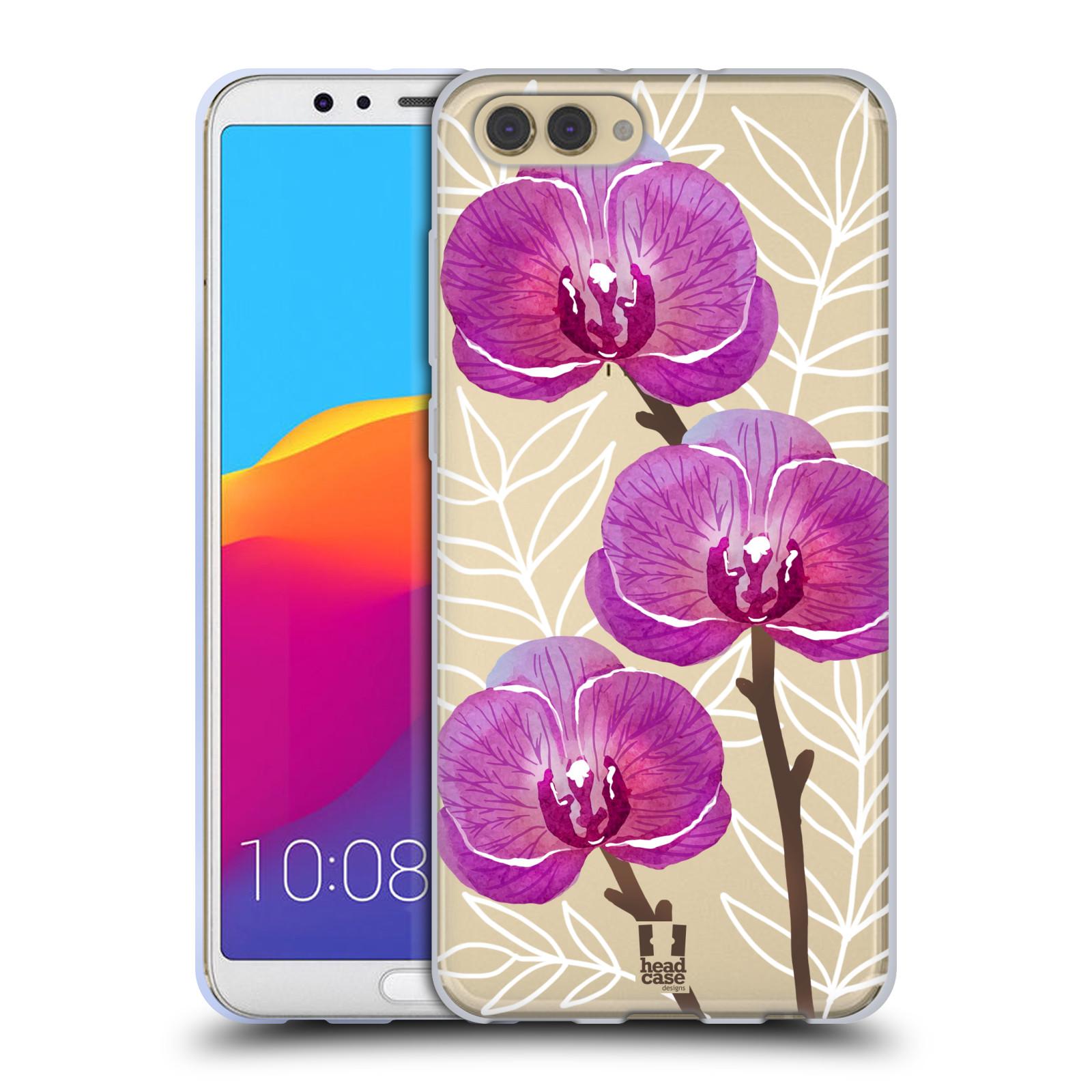 Silikonové pouzdro na mobil Honor View 10 - Head Case - Hezoučké kvítky - průhledné