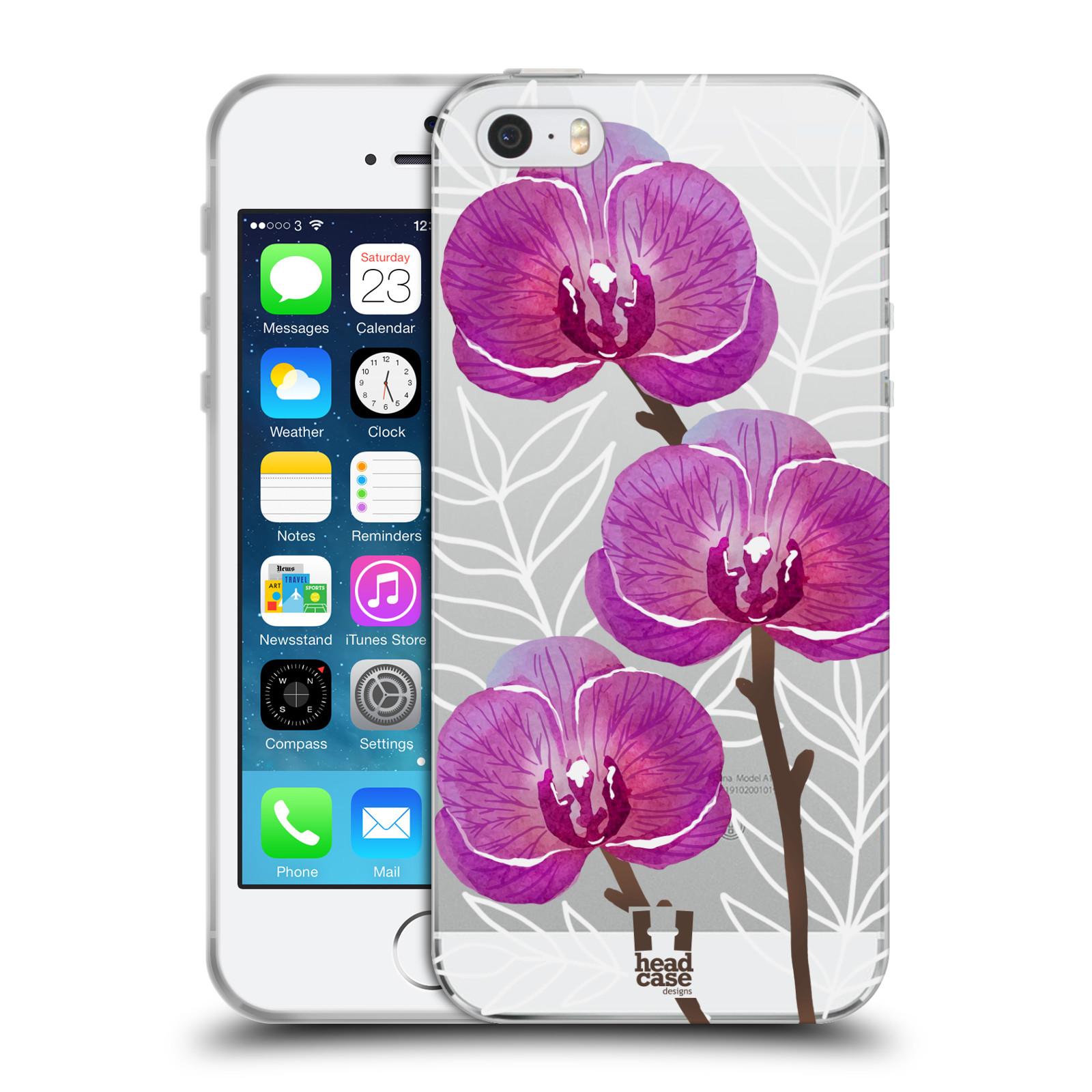 Silikonové pouzdro na mobil Apple iPhone 5, 5S, SE - Head Case - Hezoučké kvítky - průhledné