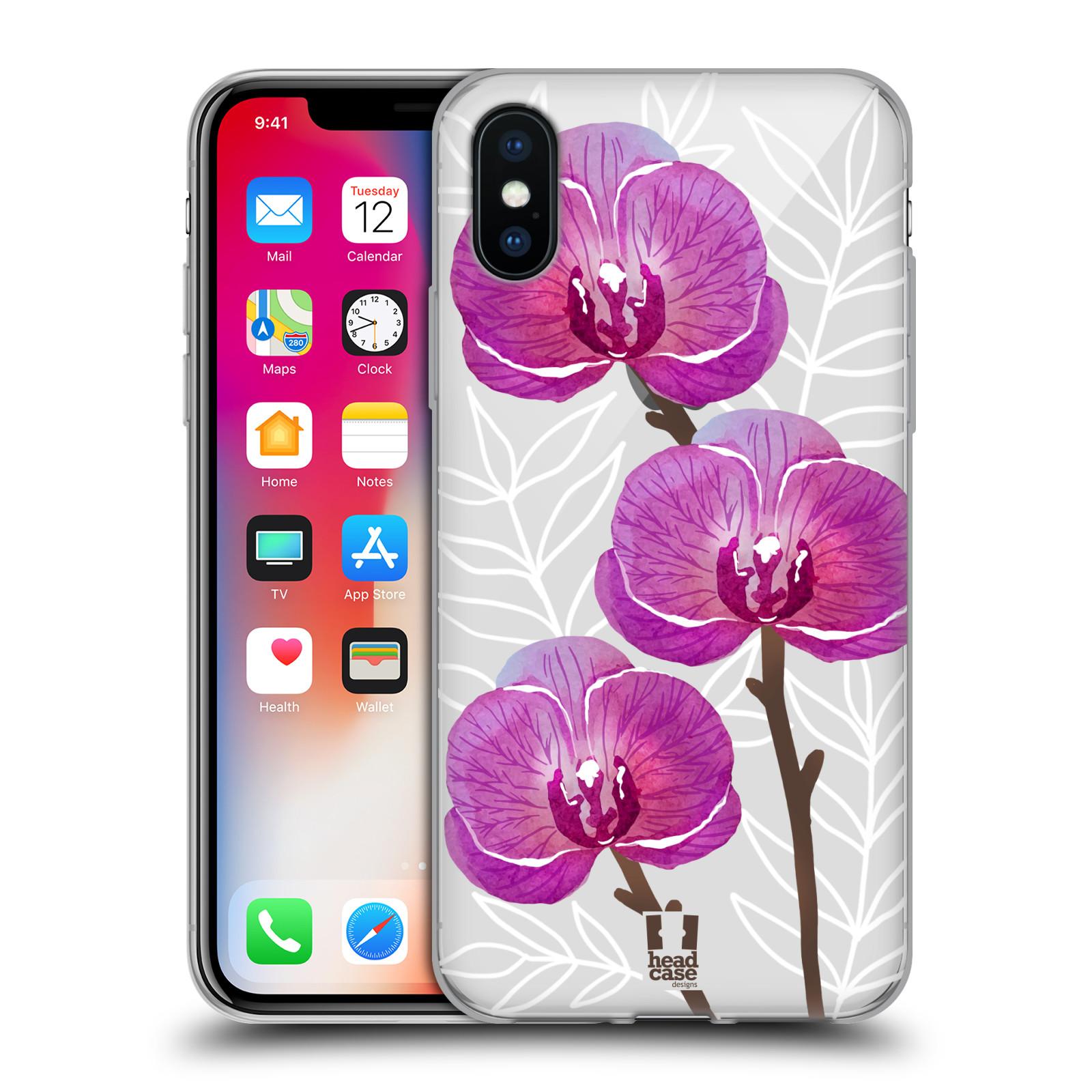 Silikonové pouzdro na mobil Apple iPhone XS - Head Case - Hezoučké kvítky - průhledné