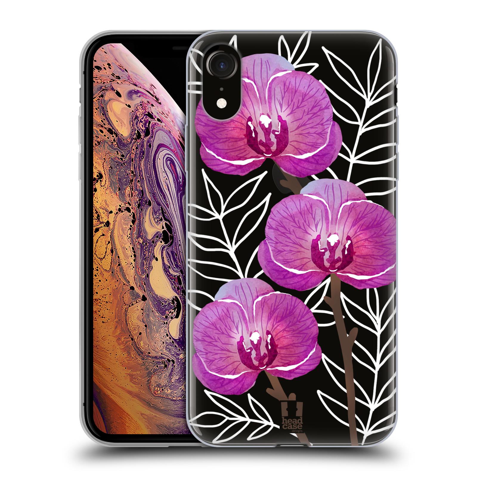 Silikonové pouzdro na mobil Apple iPhone XR - Head Case - Hezoučké kvítky - průhledné